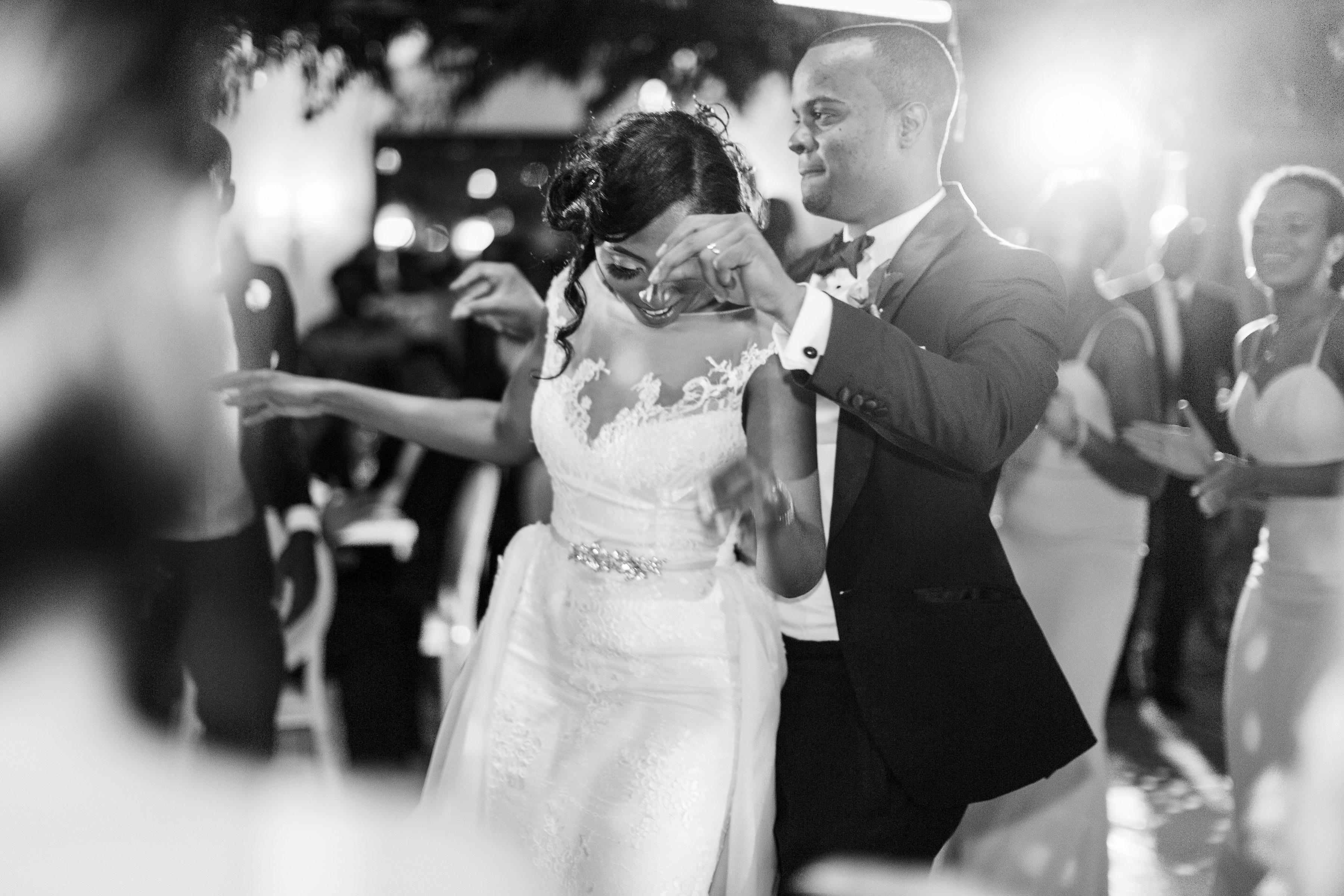 chloe shayo south africa couple reception couple dancing black and white