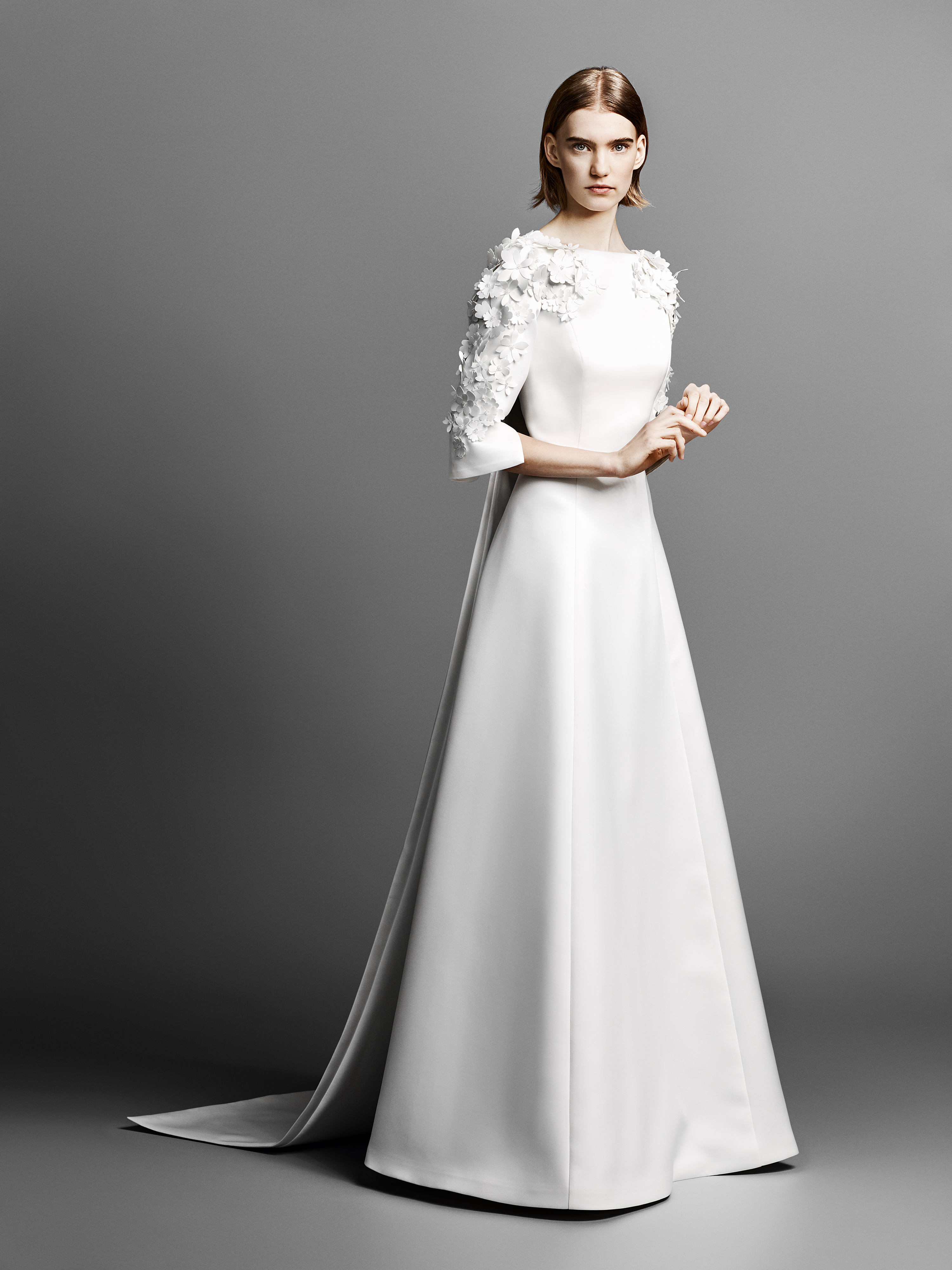 three-quarter length sleeve viktor rolf wedding dress spring 2019