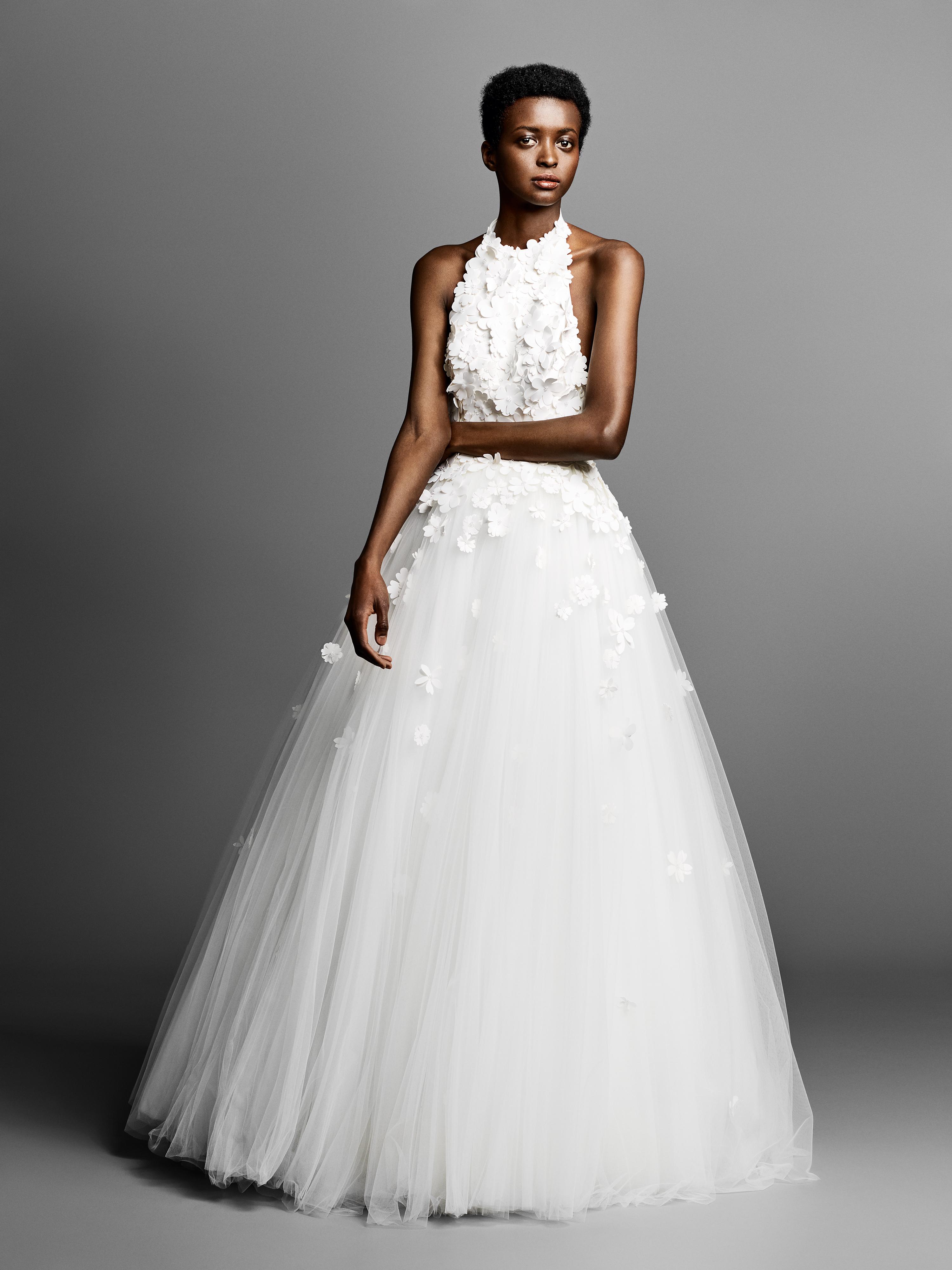 viktor rolf a-line wedding dress with halter neckline spring 2019