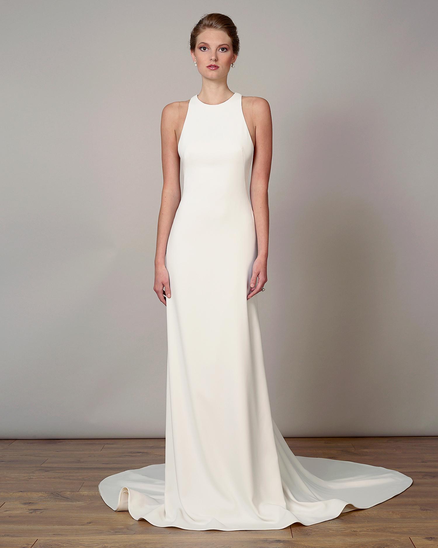 liancarlo wedding dress spring 2019 high-neck sheath
