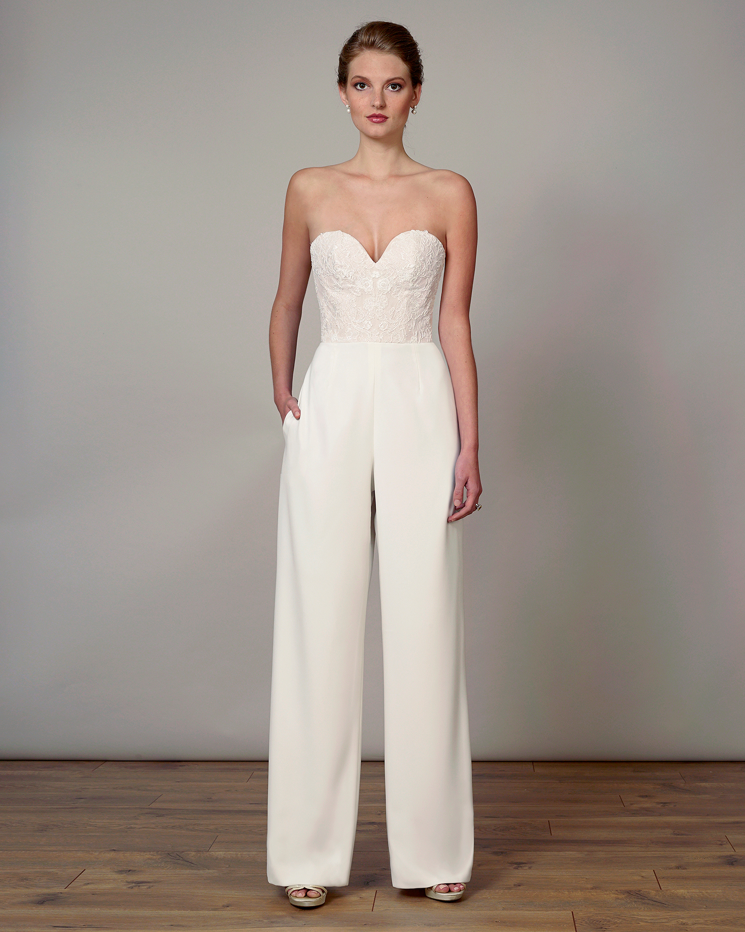 liancarlo wedding dress spring 2019 corseted bodice jumpsuit