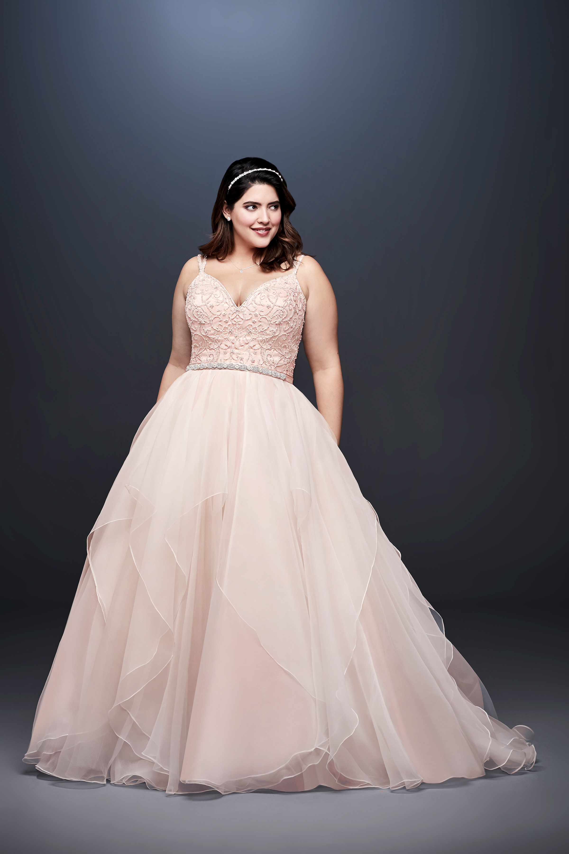 david bridal wedding dress spring 2019 sleeveless blush a-line