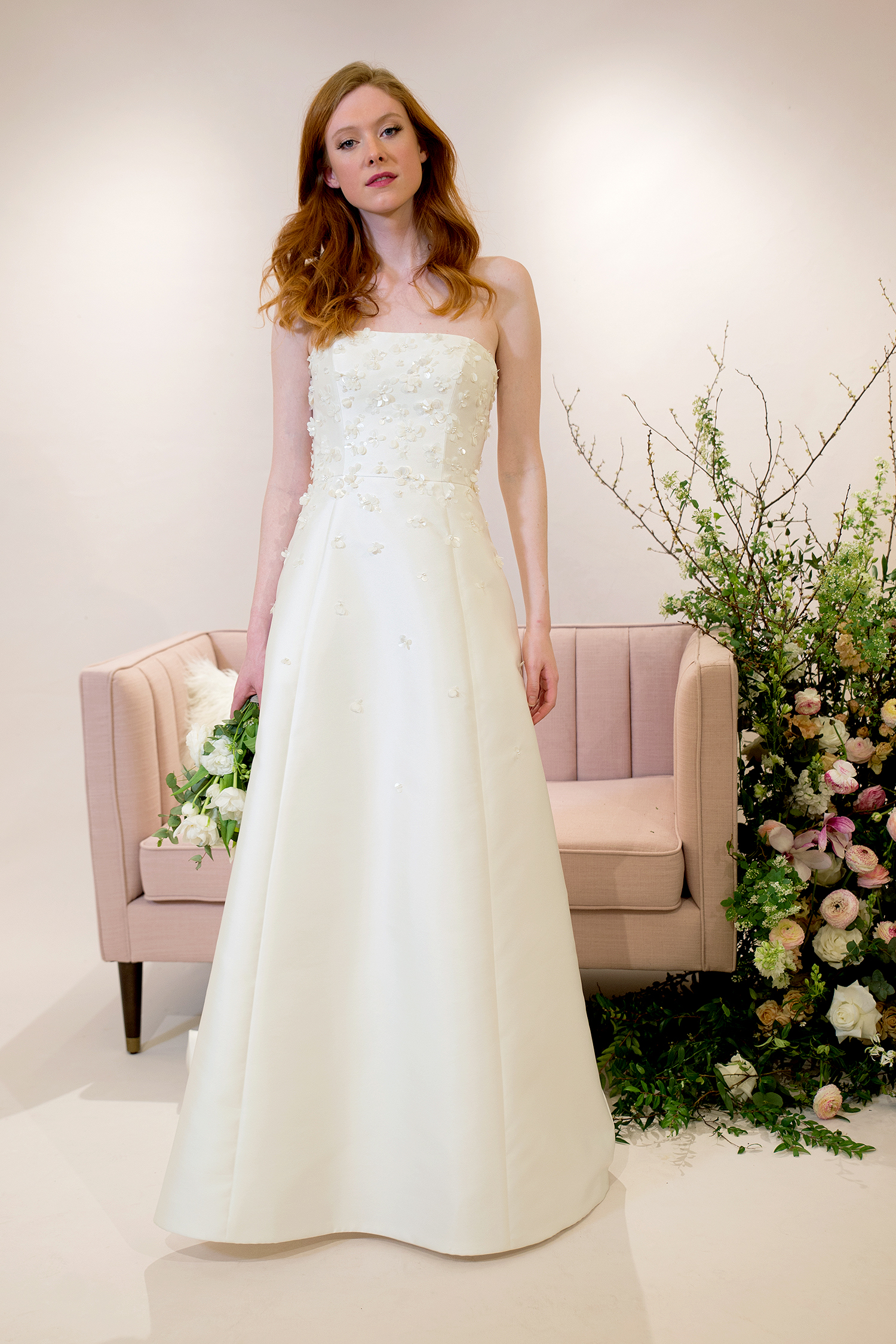 jenny by jenny yoo dress spring 2019 strapless a-line with appliques