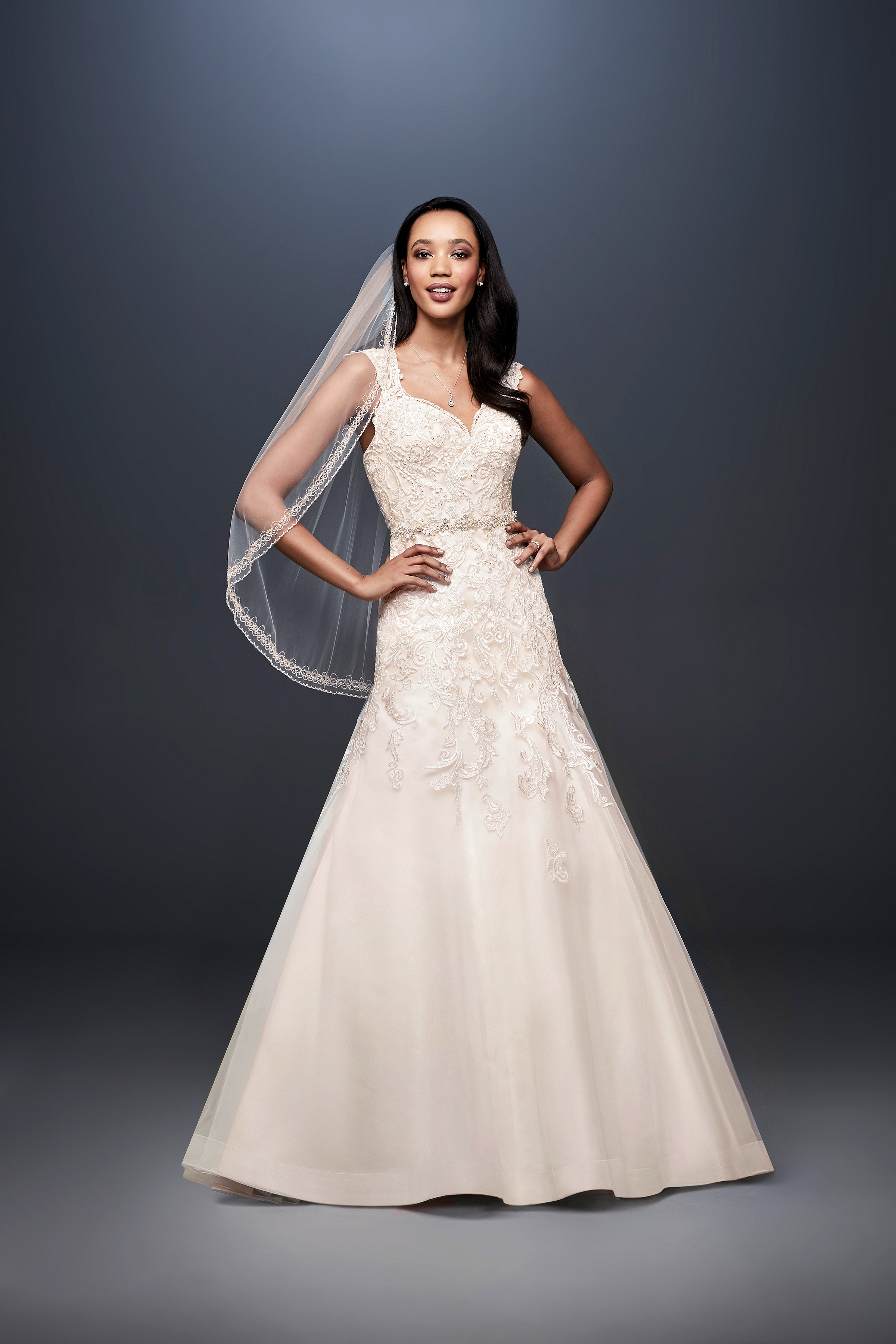 david bridal wedding dress spring 2019 sweetheart trumpet beaded