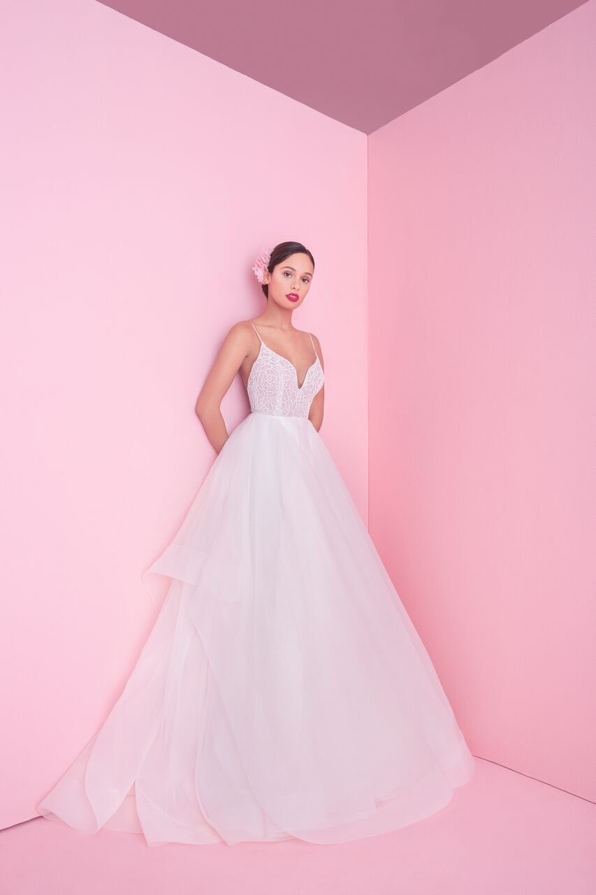 "blush by hayley paige ""perri"" wedding dress spring 2019"