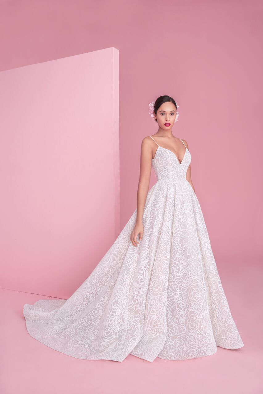 "blush by hayley paige ""jardin"" wedding dress spring 2019"