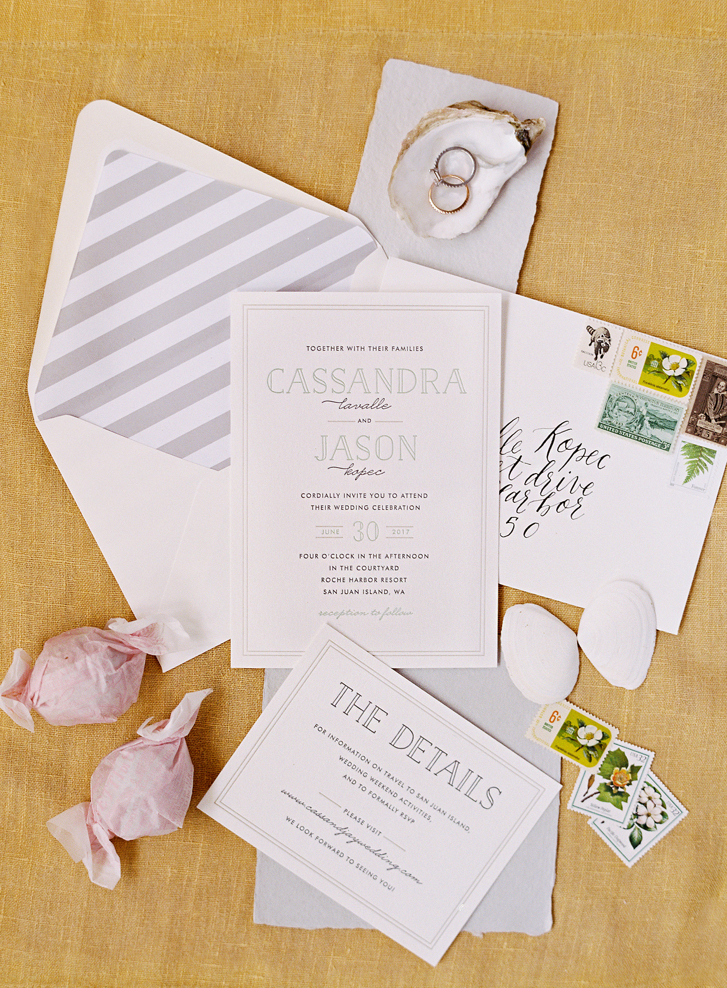 cassandra jason wedding stationery