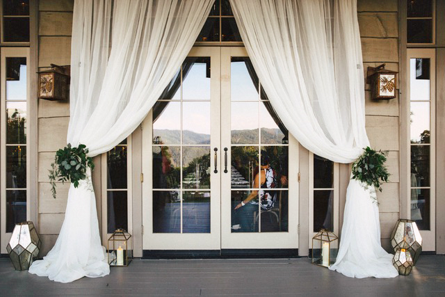 modern wedding dressed-up doors