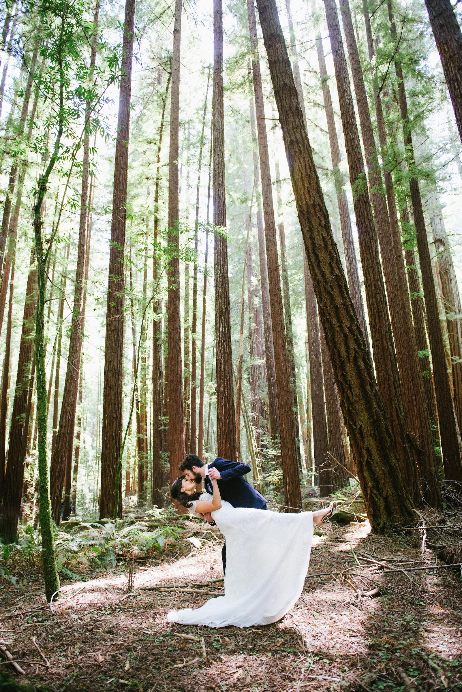 wedding couple dancing woods