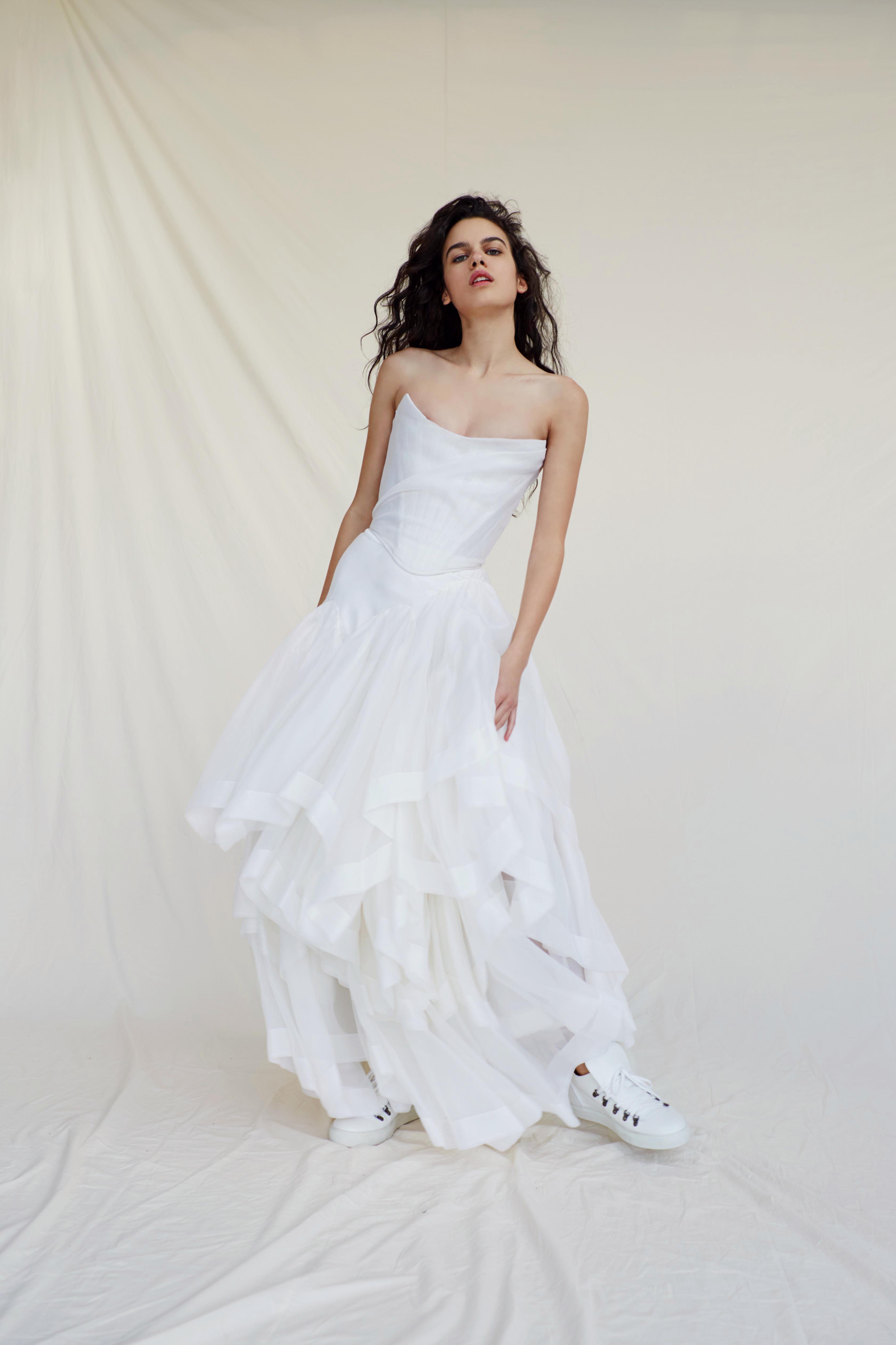 vivienne westwood wedding dress Spring 2019 strapless corset top a-line
