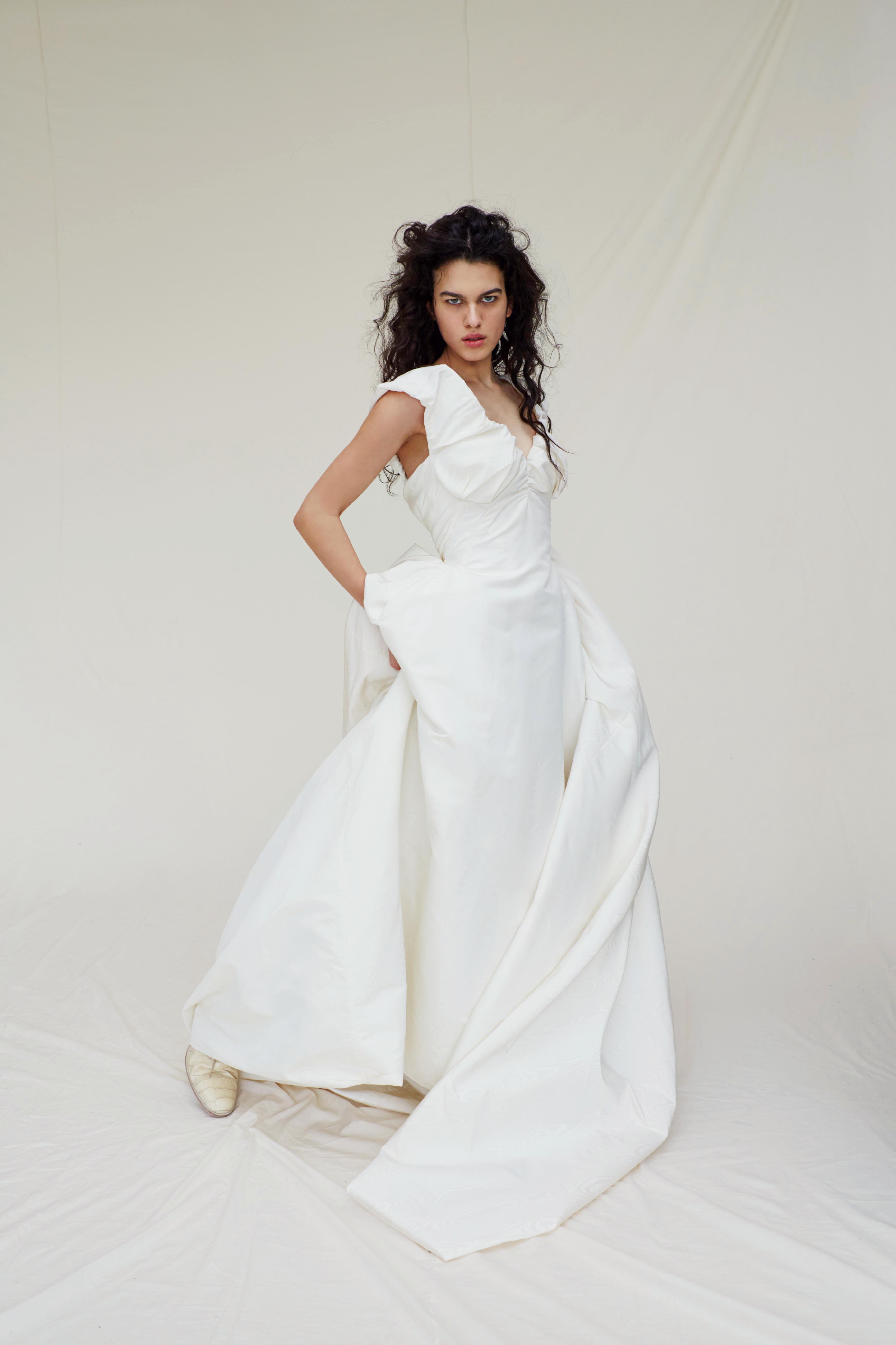 vivienne westwood wedding dress Spring 2019 a-line ruched neckline