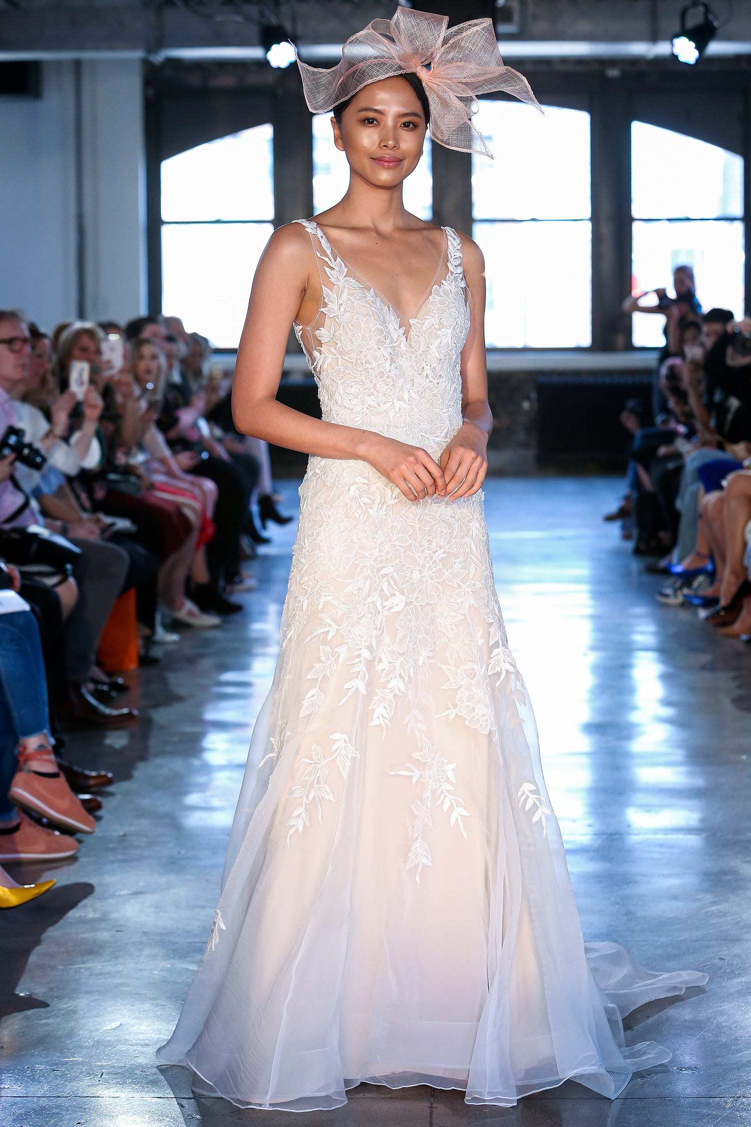 watters wedding dress spring 2019 v-neck a-line with embroidery