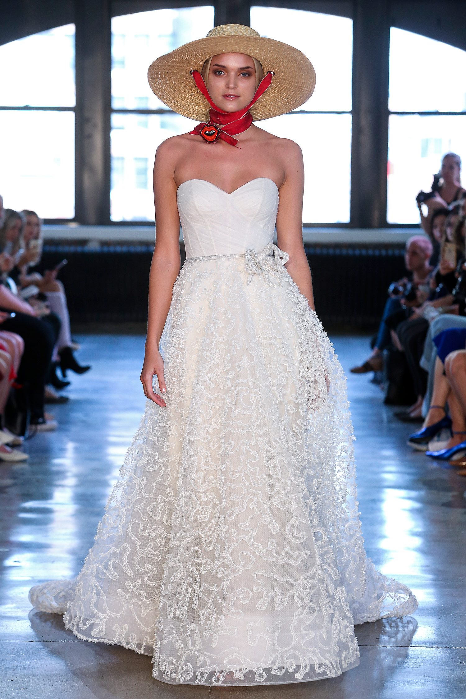 watters wedding dress spring 2019 corseted bodice belted a-line