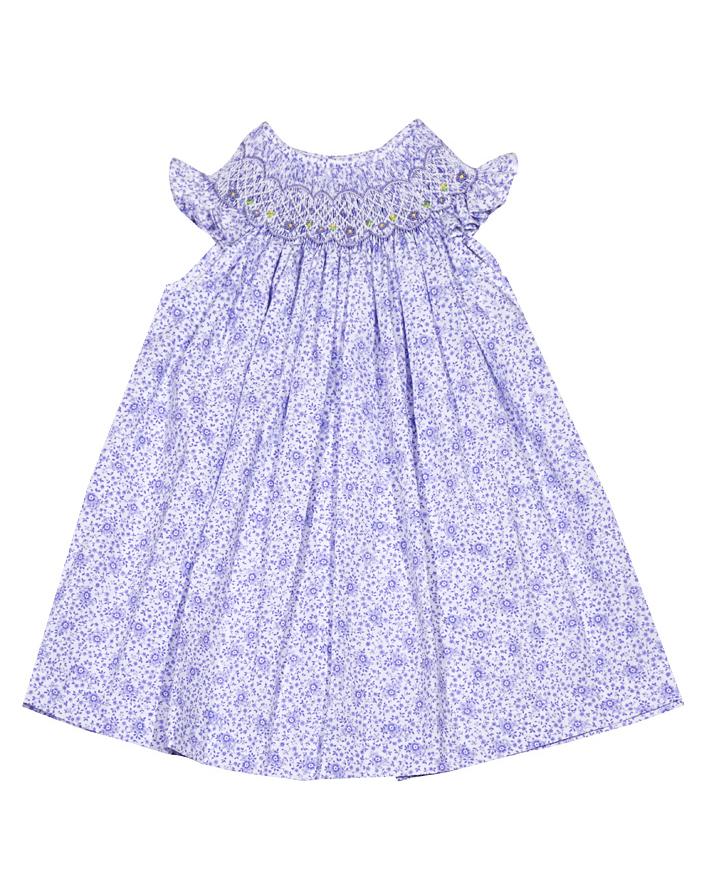 Luli & Me Smocked Floral Dress