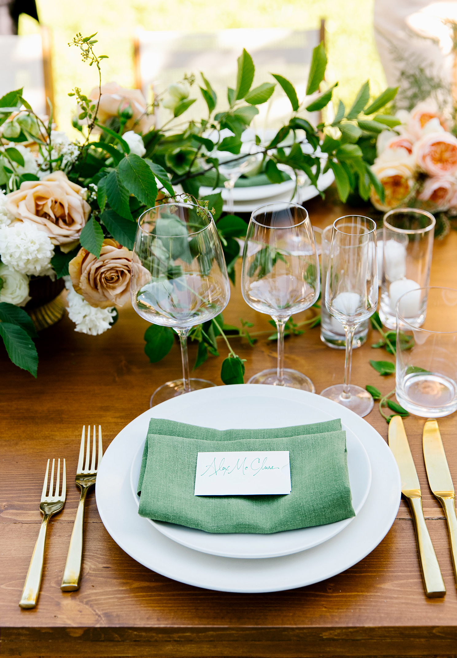 kendall jackson wedding place setting