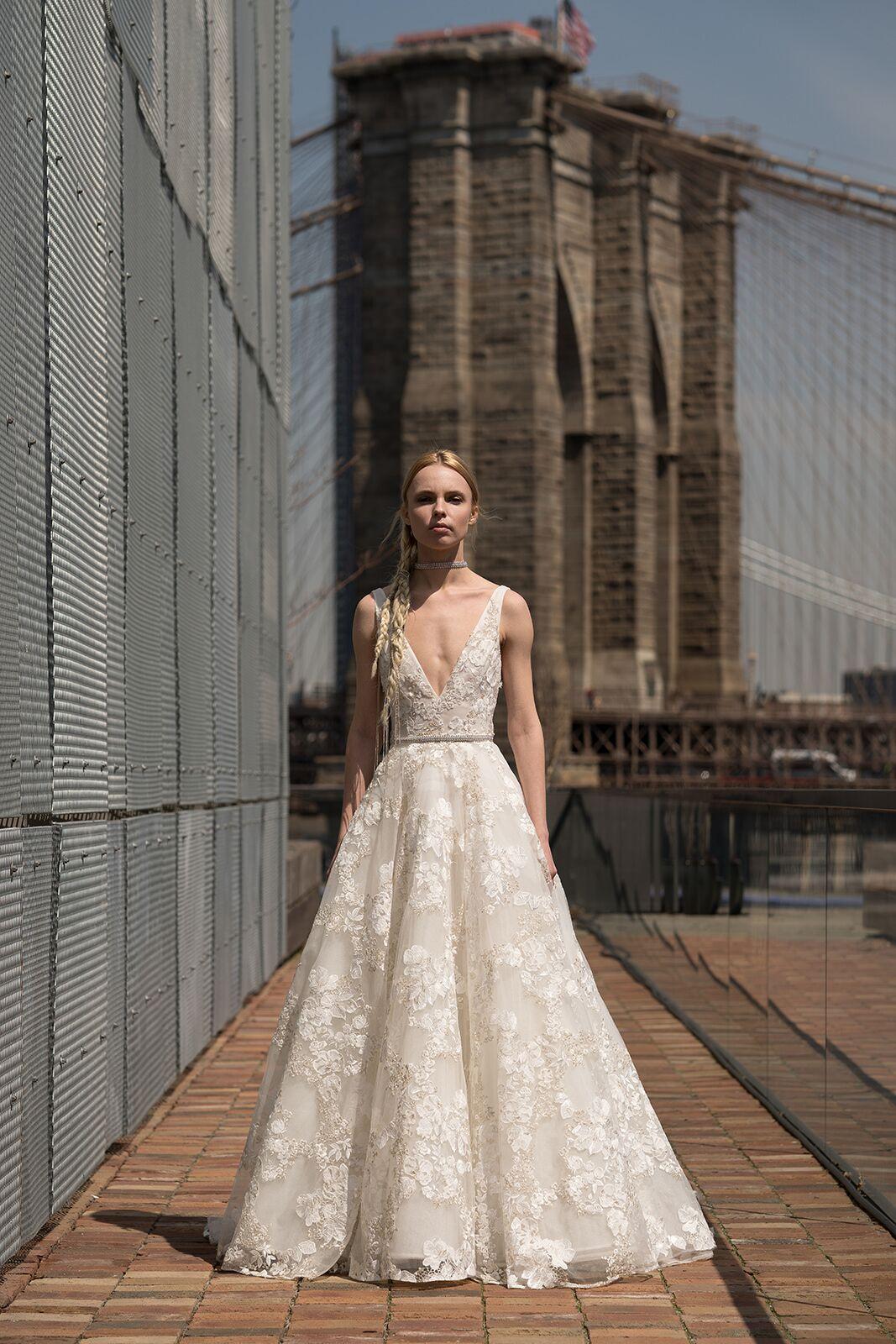 "alyne by rita vinieris ""winfrey"" wedding dress spring 2019"