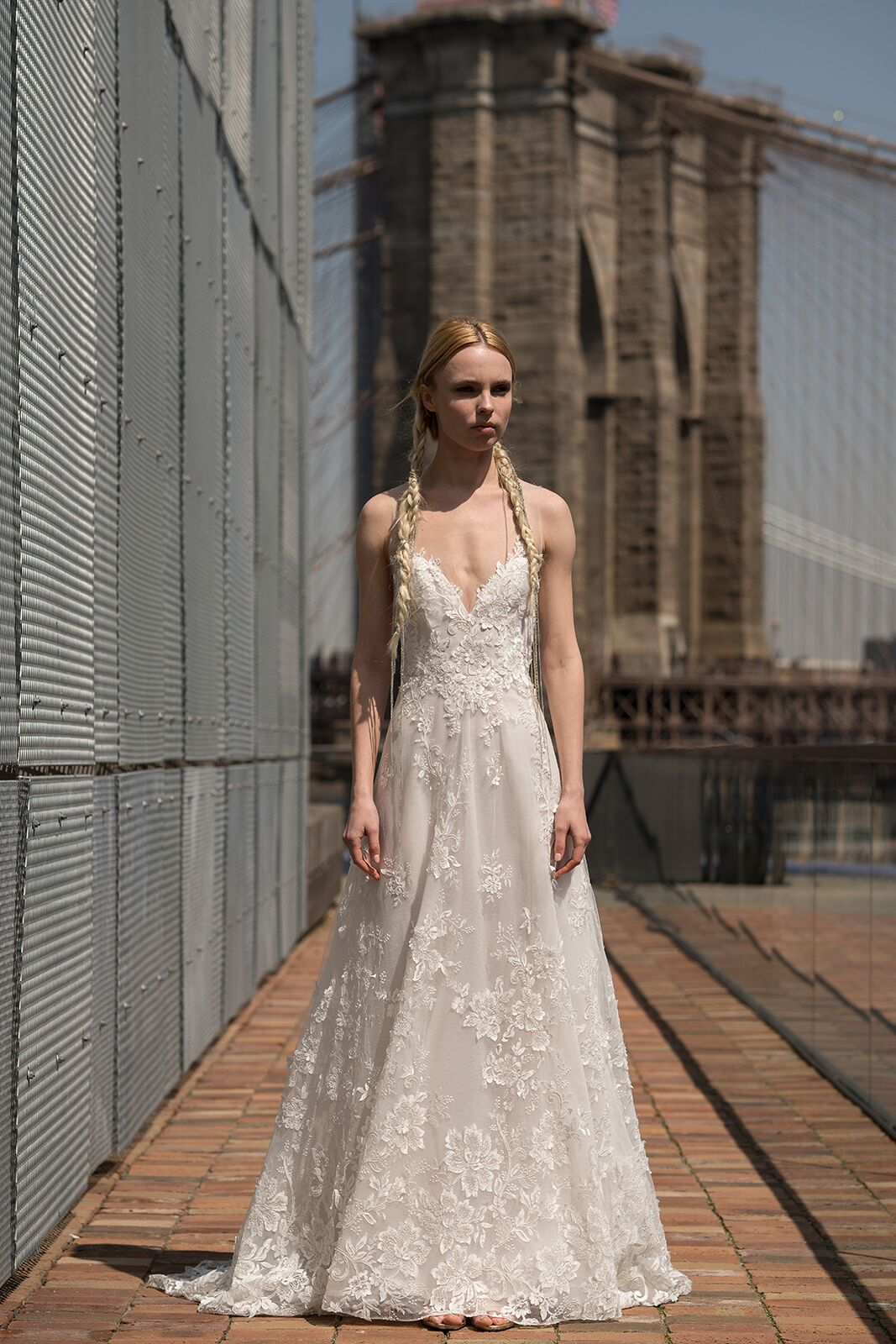 "alyne by rita vinieris ""roosevelt"" wedding dress spring 2019"