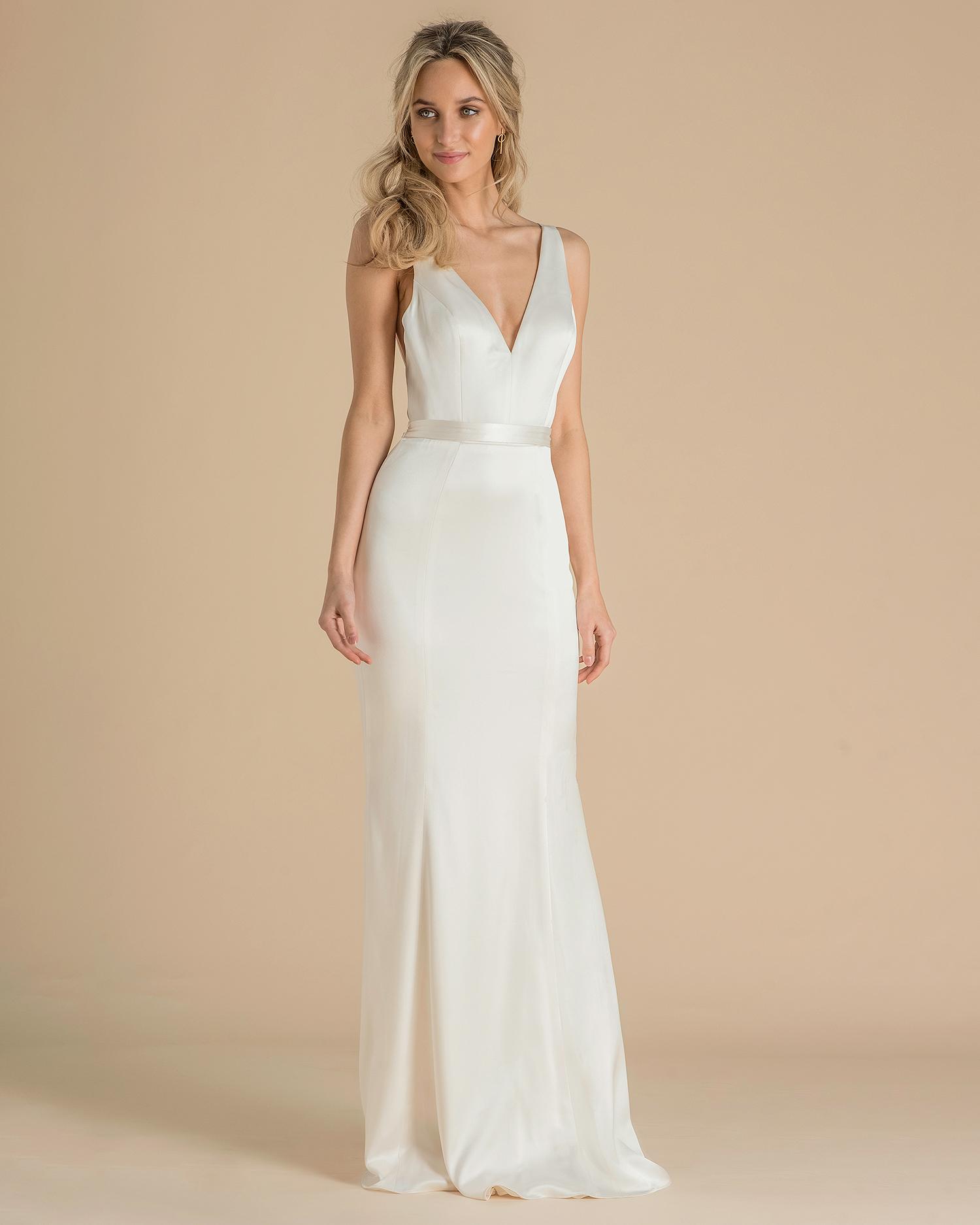 catherine deane wedding dress spring 2019 classic belted sheath
