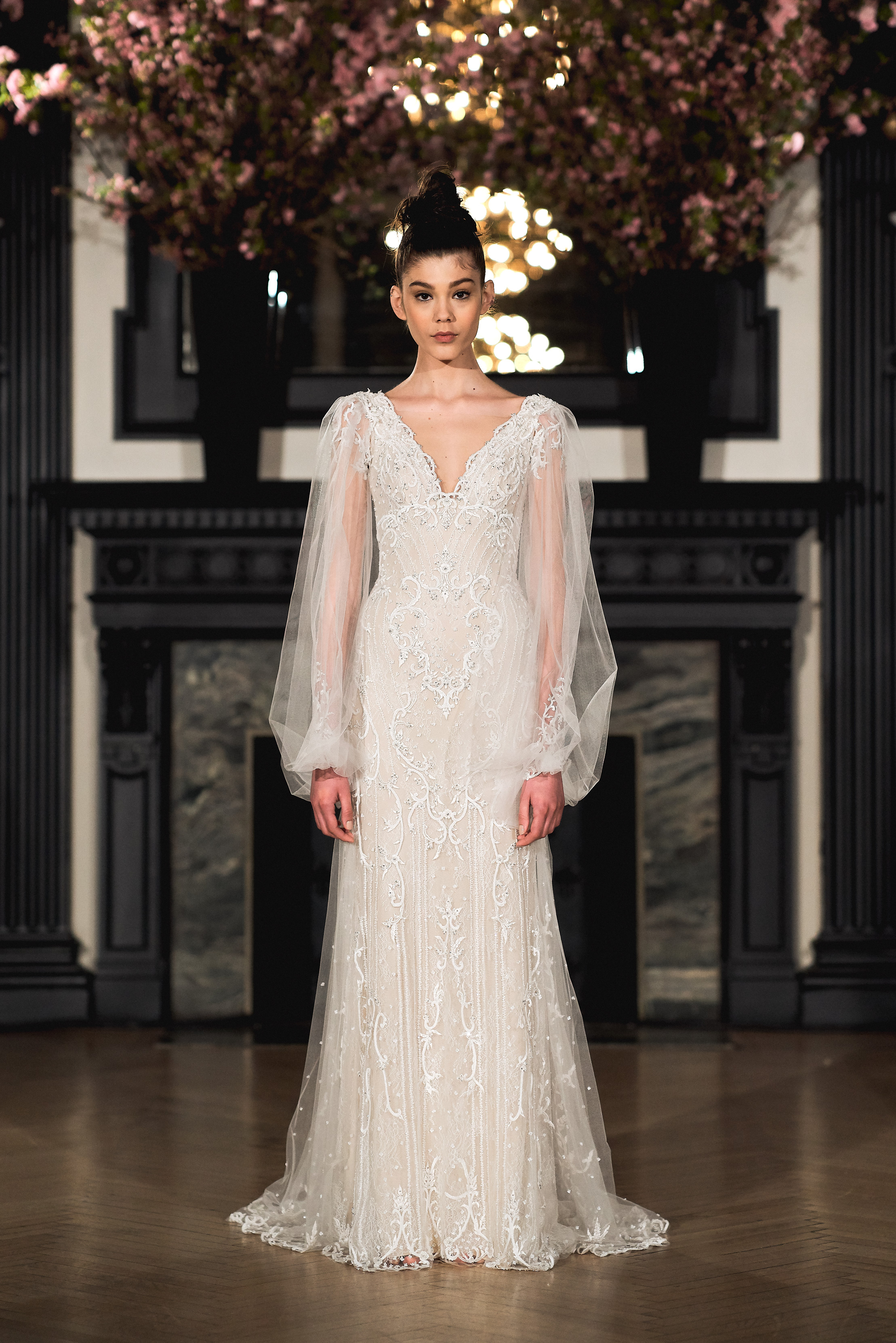 ines di santo wedding dress spring 2019 long sleeve floral lace