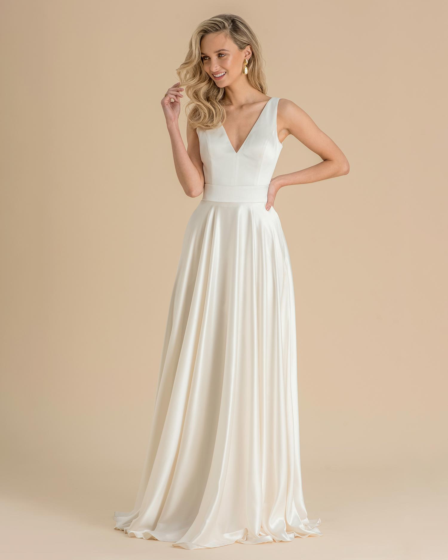 catherine deane wedding dress spring 2019 classic v-neck a-line