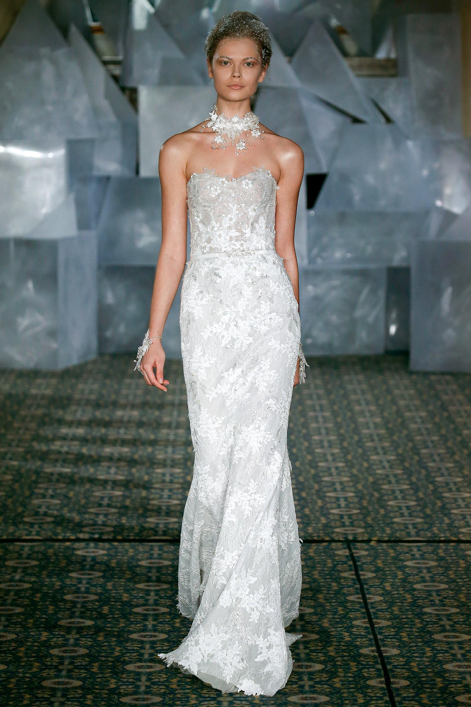 mira zwillinger wedding dress spring 2019 strapless embroidered sheath