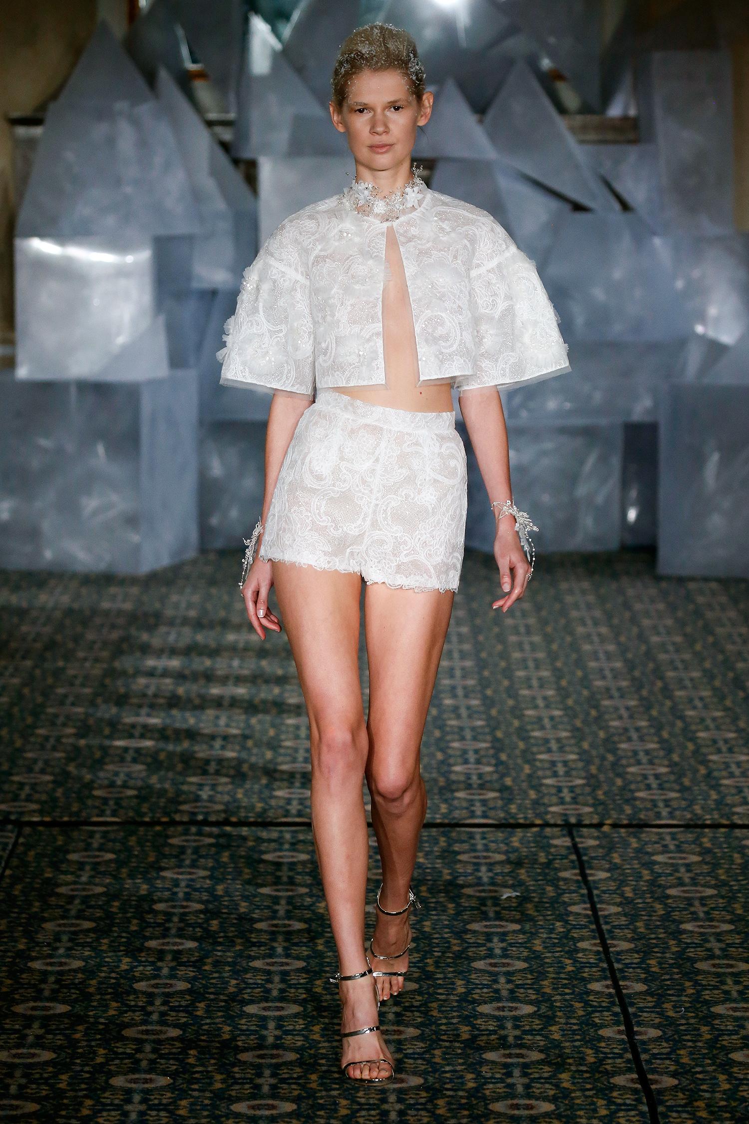 mira zwillinger wedding dress spring 2019 shorts and jacket separates
