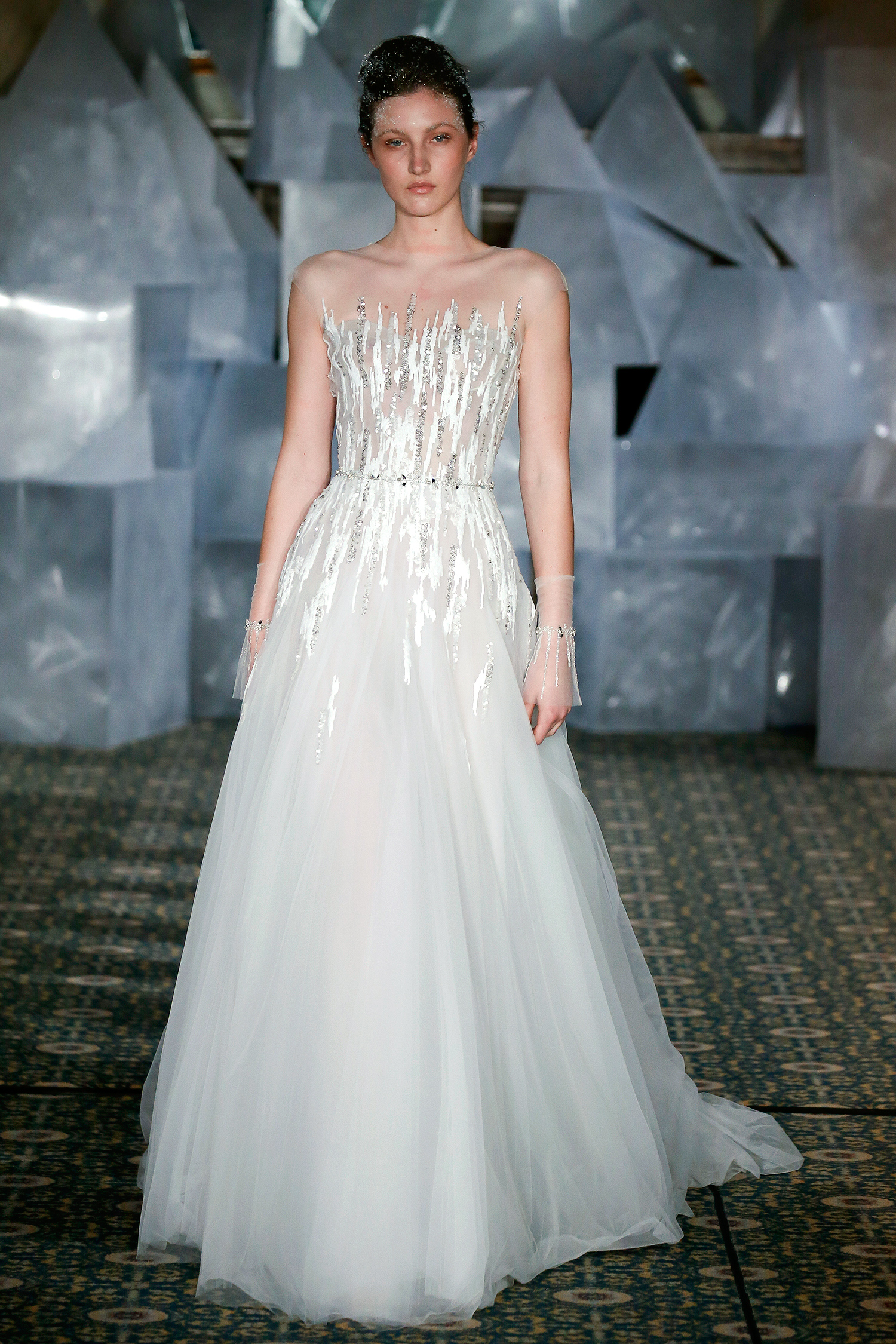 mira zwillinger wedding dress spring 2019 tulle a-line bodice beadwork