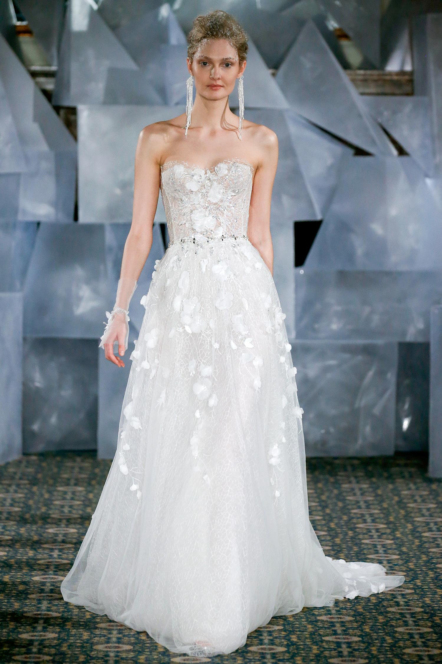 mira zwillinger wedding dress spring 2019 corseted bodice net applique