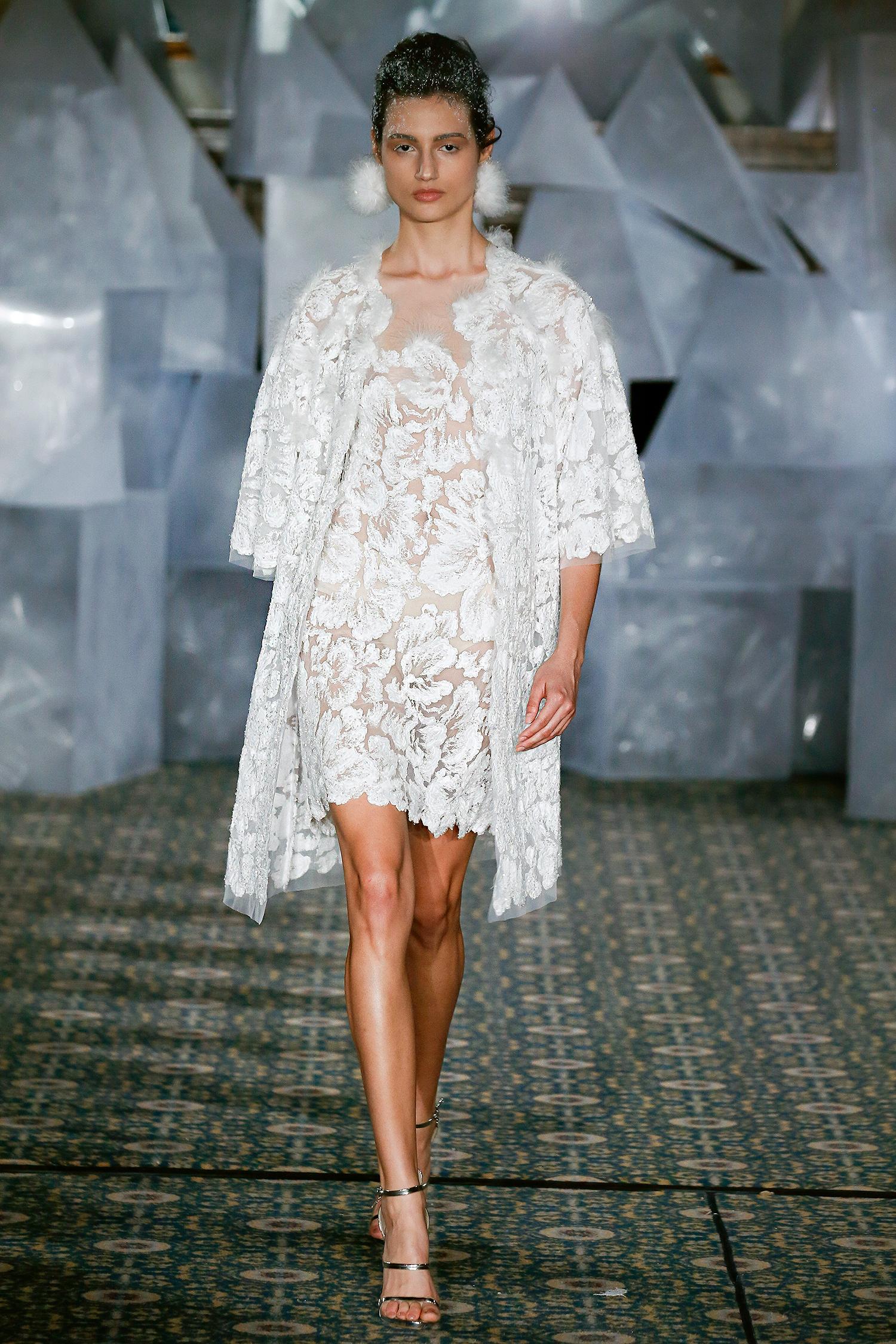 mira zwillinger wedding dress spring 2019 short dress embroidered jacket separates