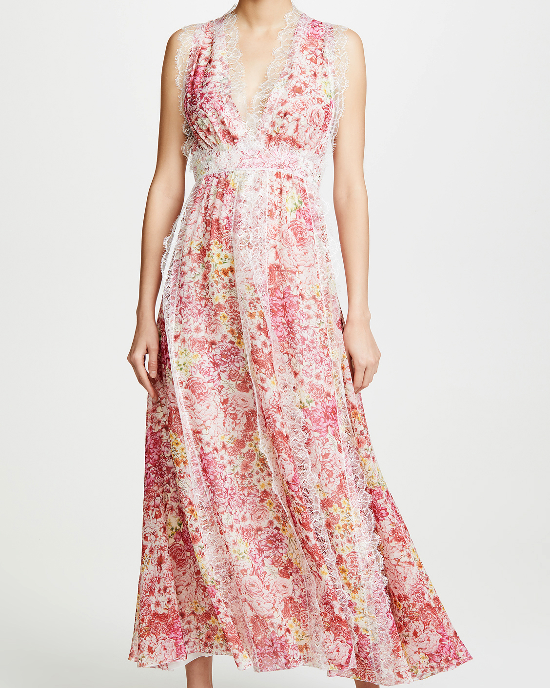 floral lace printed mob dress