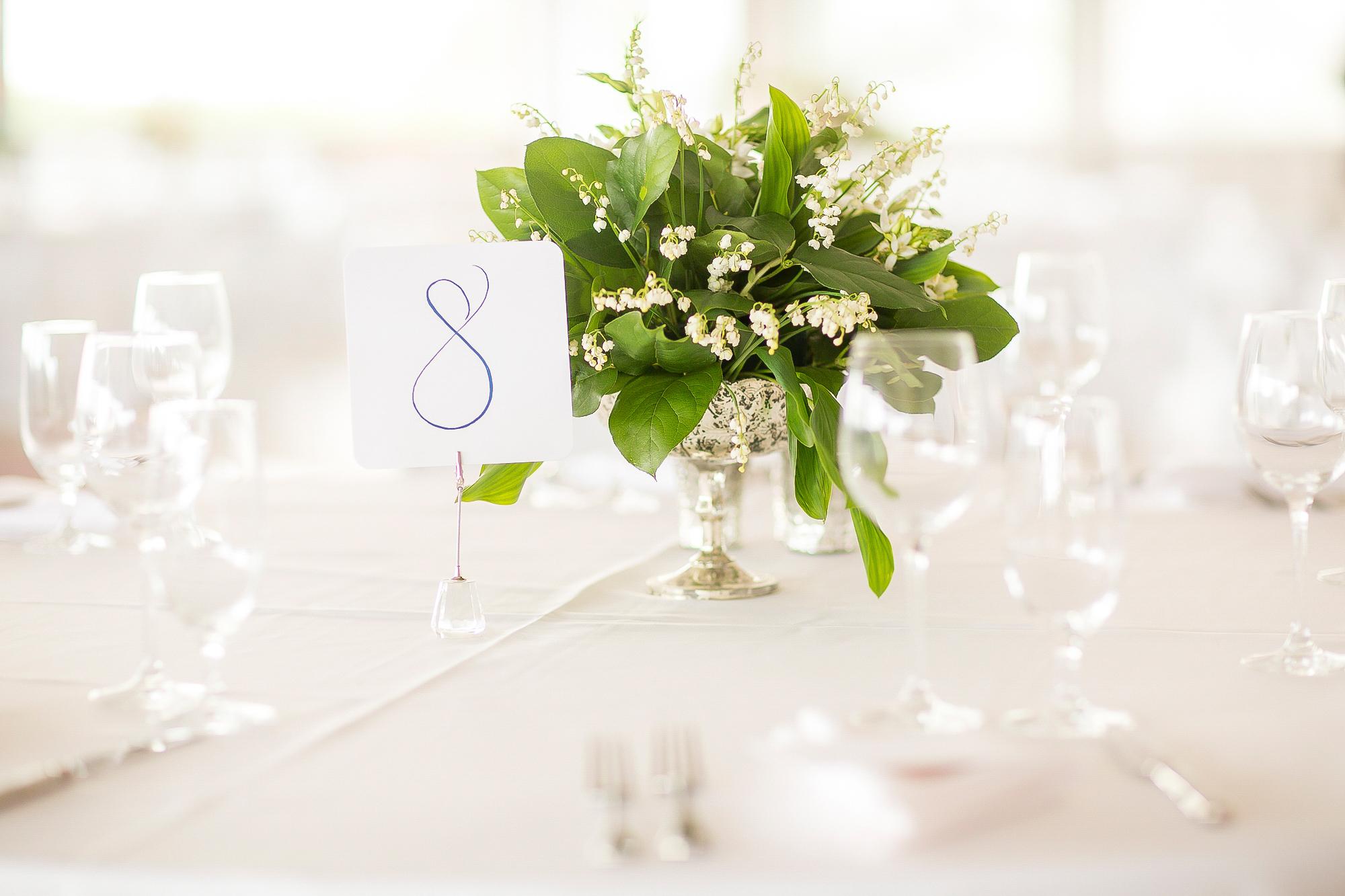 white floral centerpiece