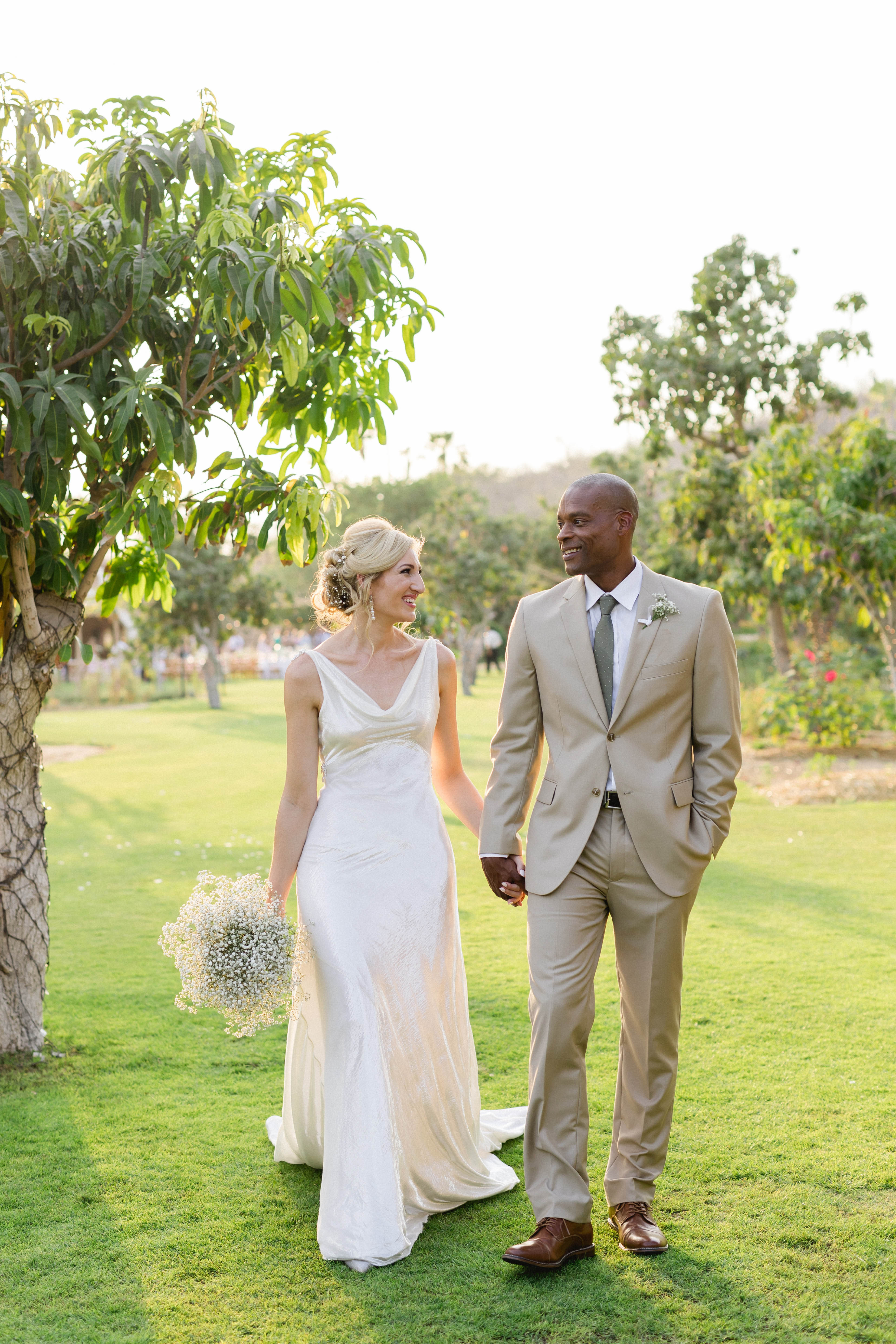 brittany craig wedding couple walking