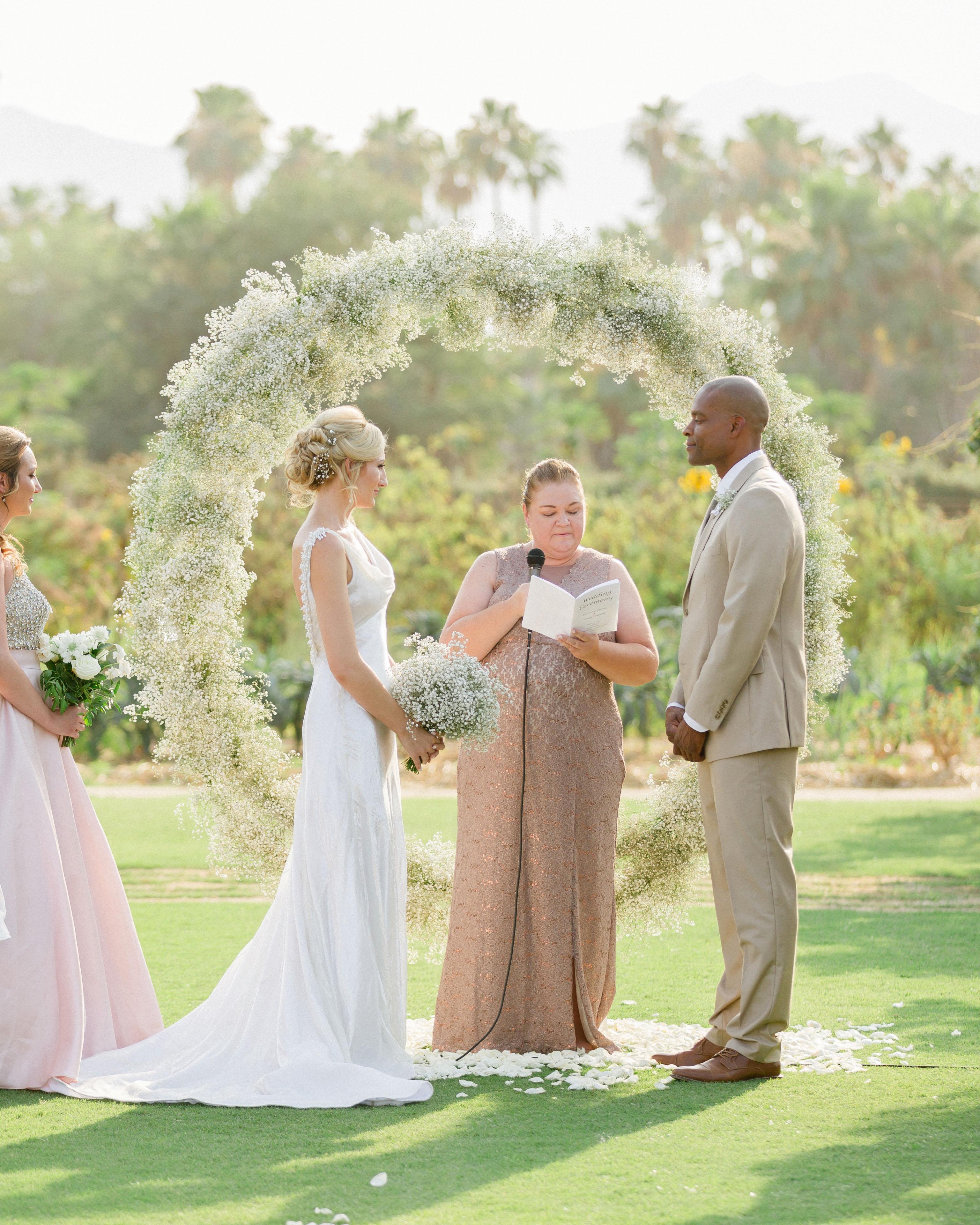 brittany craig wedding ceremony at altar