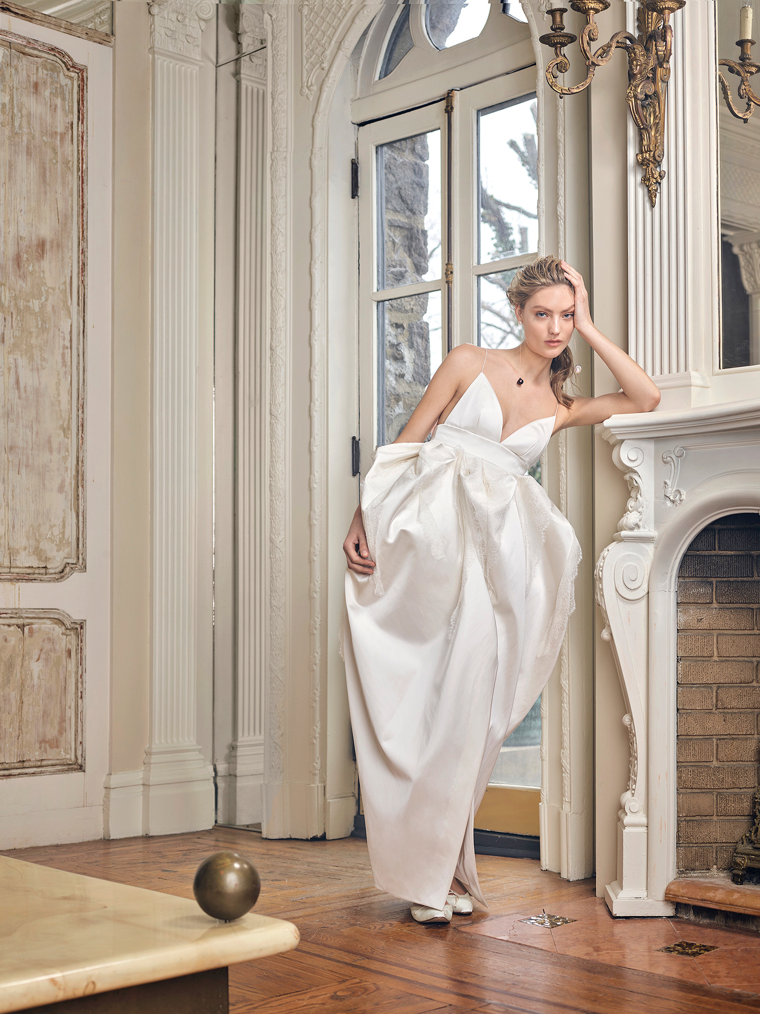 danielle frankel wedding dress spring 2019 spaghetti-strap v-neck