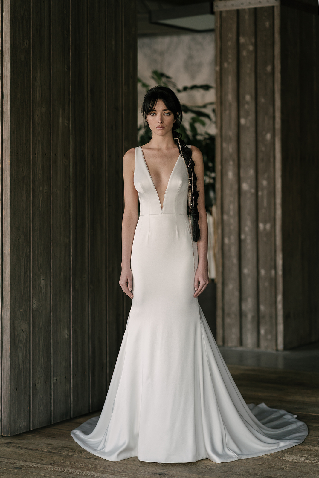 rivini by rita vinieris spring 2019 trumpet wedding dress with deep v-neckline
