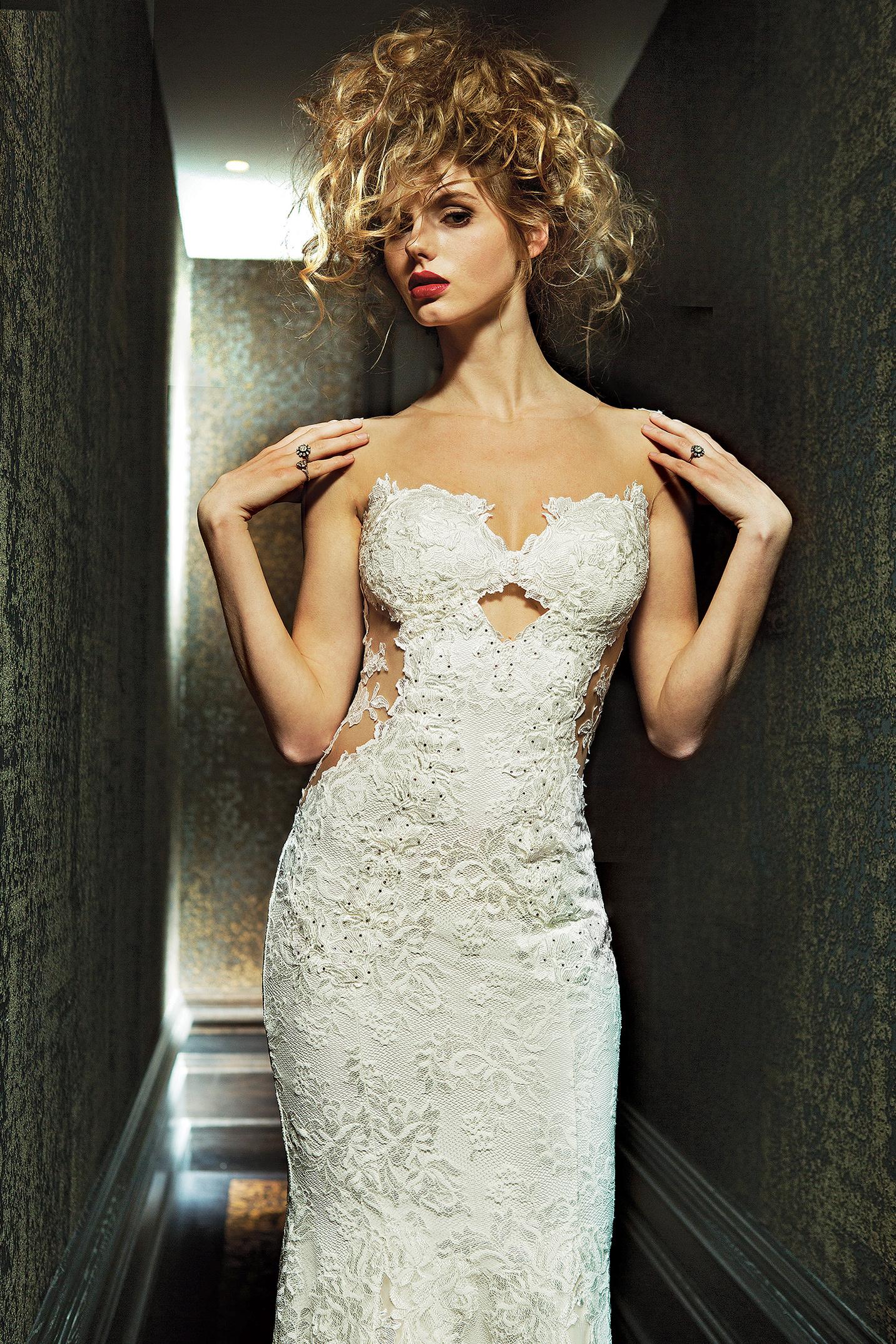 olvi wedding dress spring 2019 peekaboo bodice sheer side panels