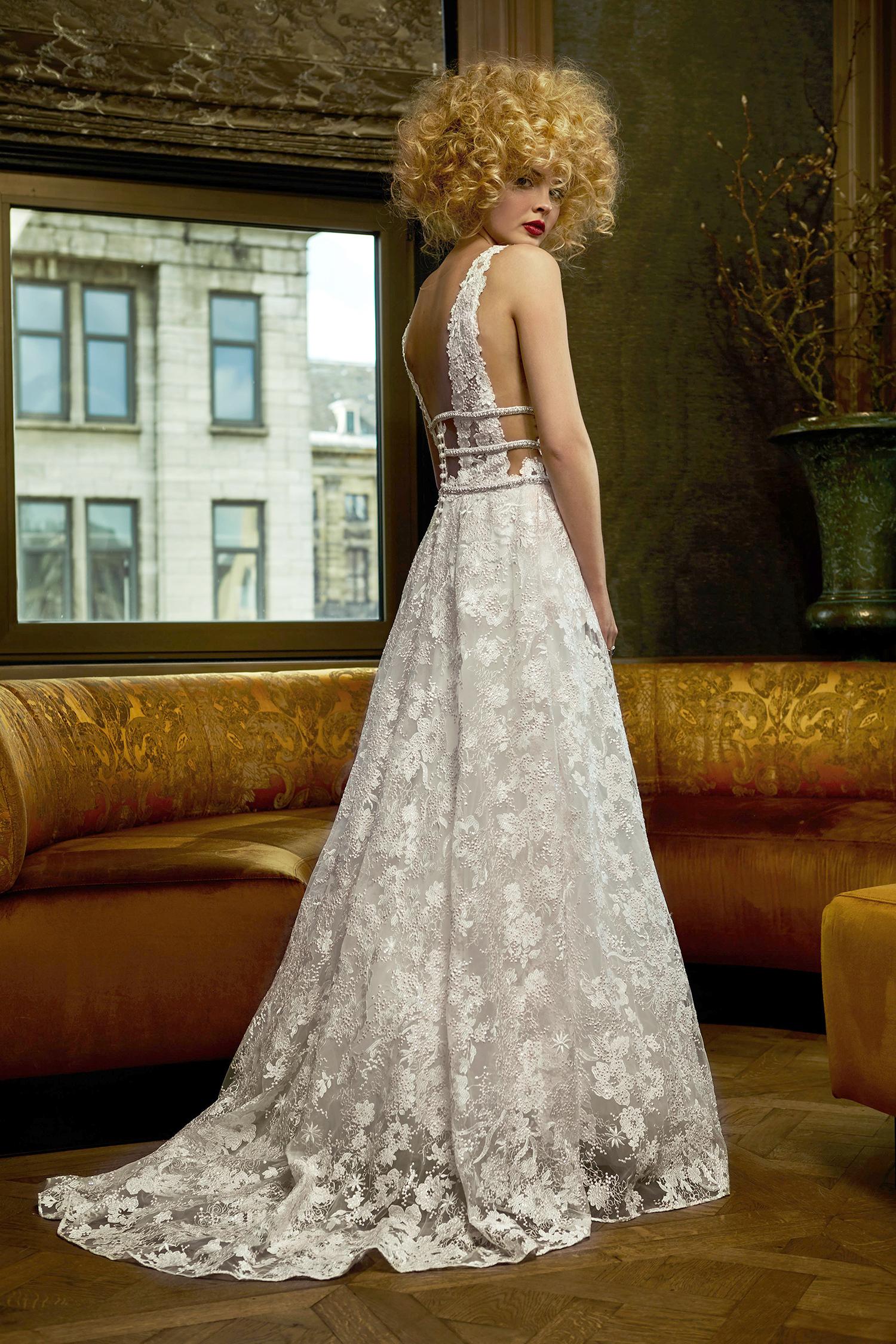 olvi wedding dress spring 2019 lace low-back a-line
