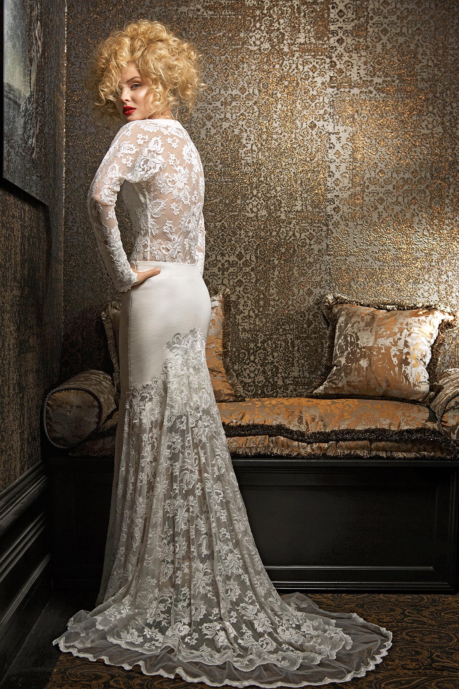 olvi wedding dress spring 2019 long-sleeve lace detail