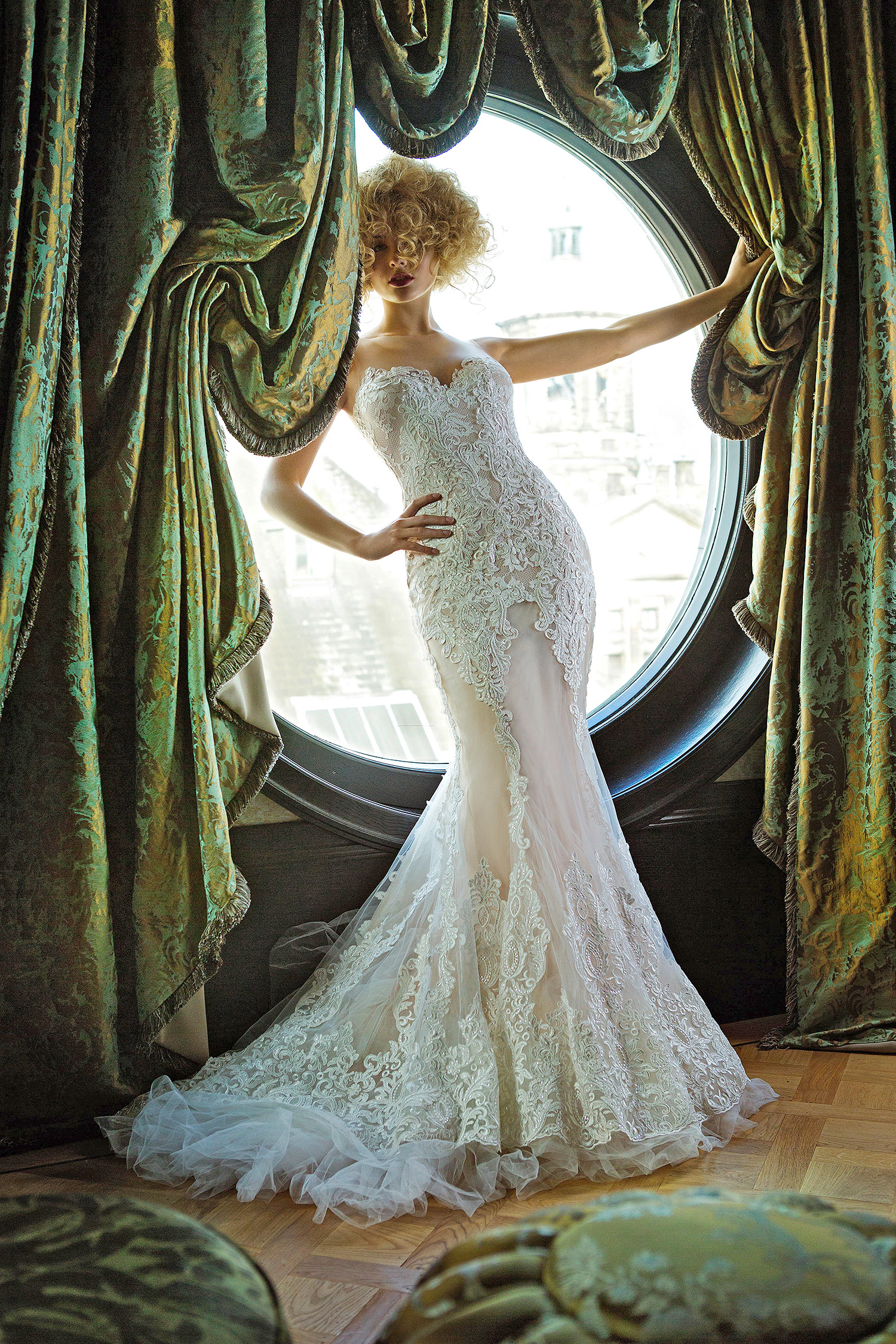 olvi wedding dress spring 2019 sweetheart strapless lace