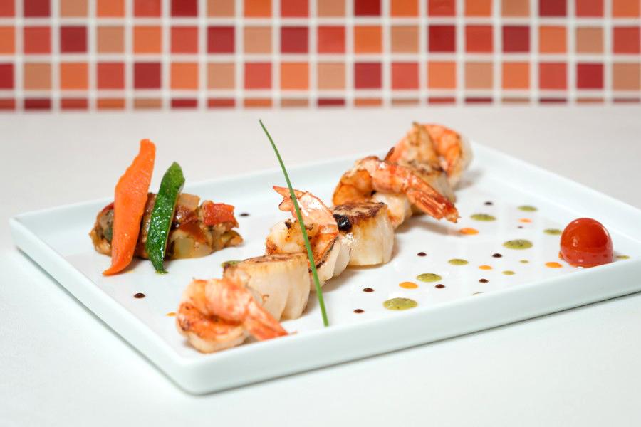 shrimp and seafood dish