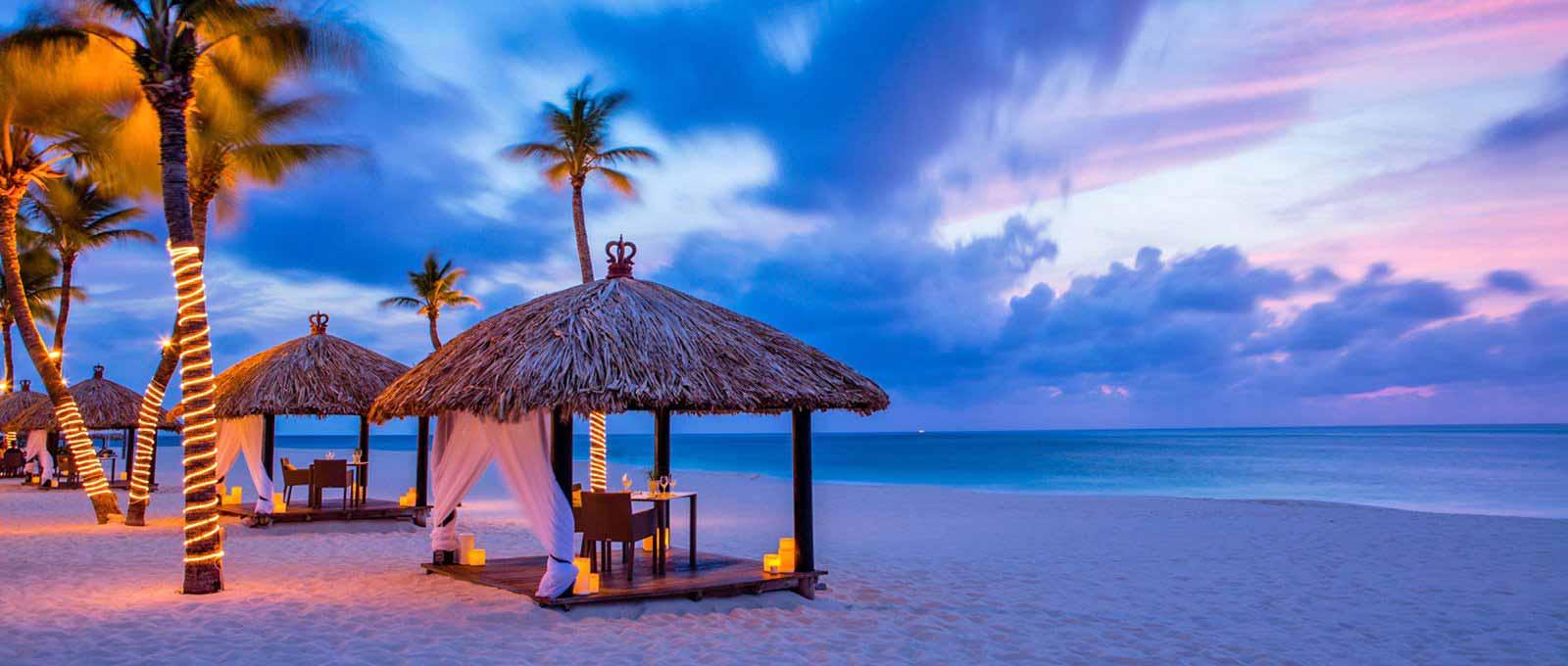 aruba beach shelters dining