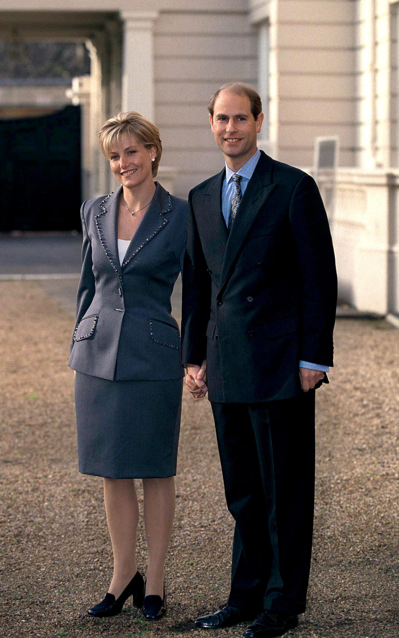 Prince Edward and Sophie Rhys-Jones engagement photo