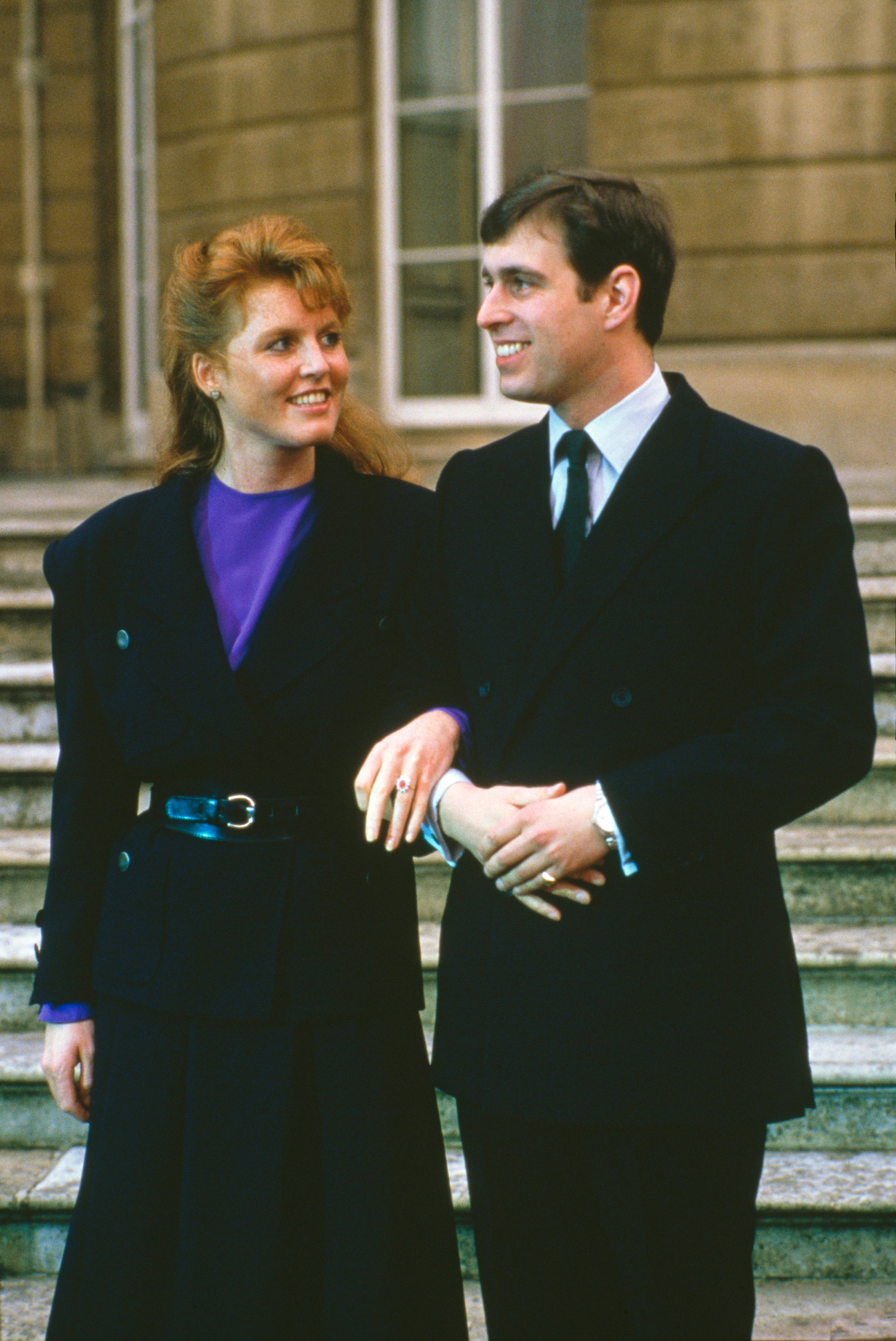 Prince Andrew and Sarah Ferguson engagement photo
