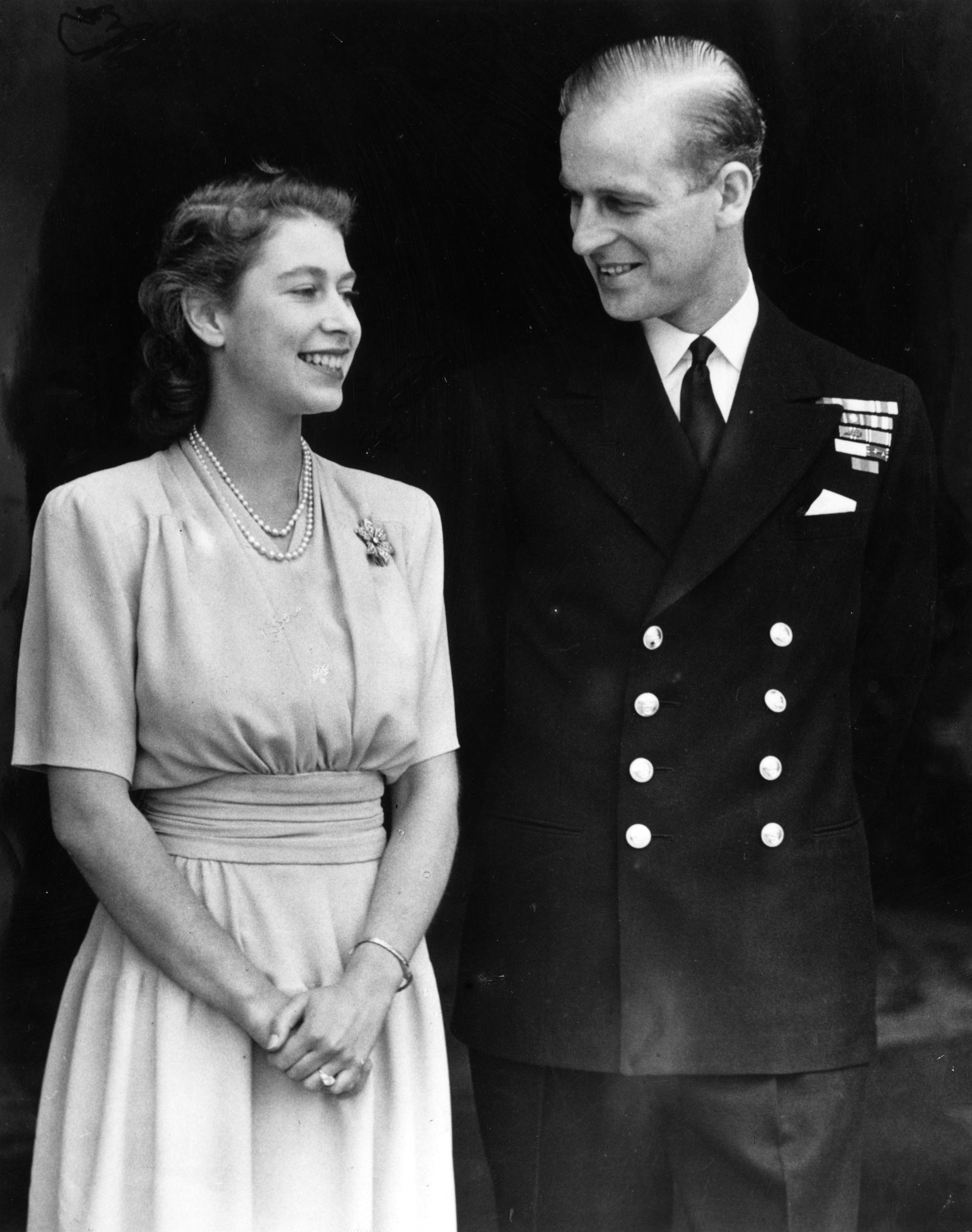 Princess Elizabeth and Prince Philip engagement photo