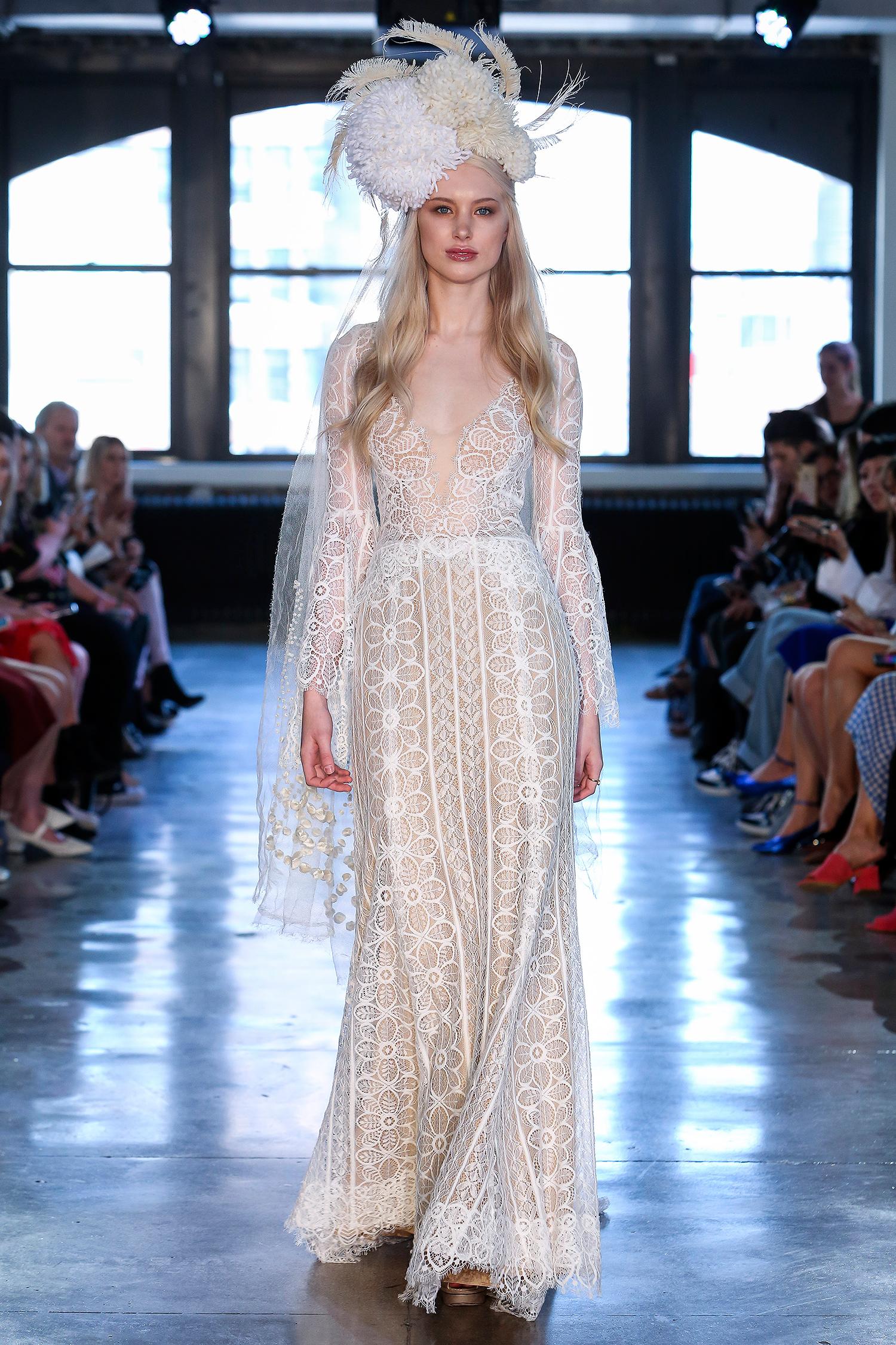 willowby watters wedding dress spring 2019 long-sleeve sheer lace sheath