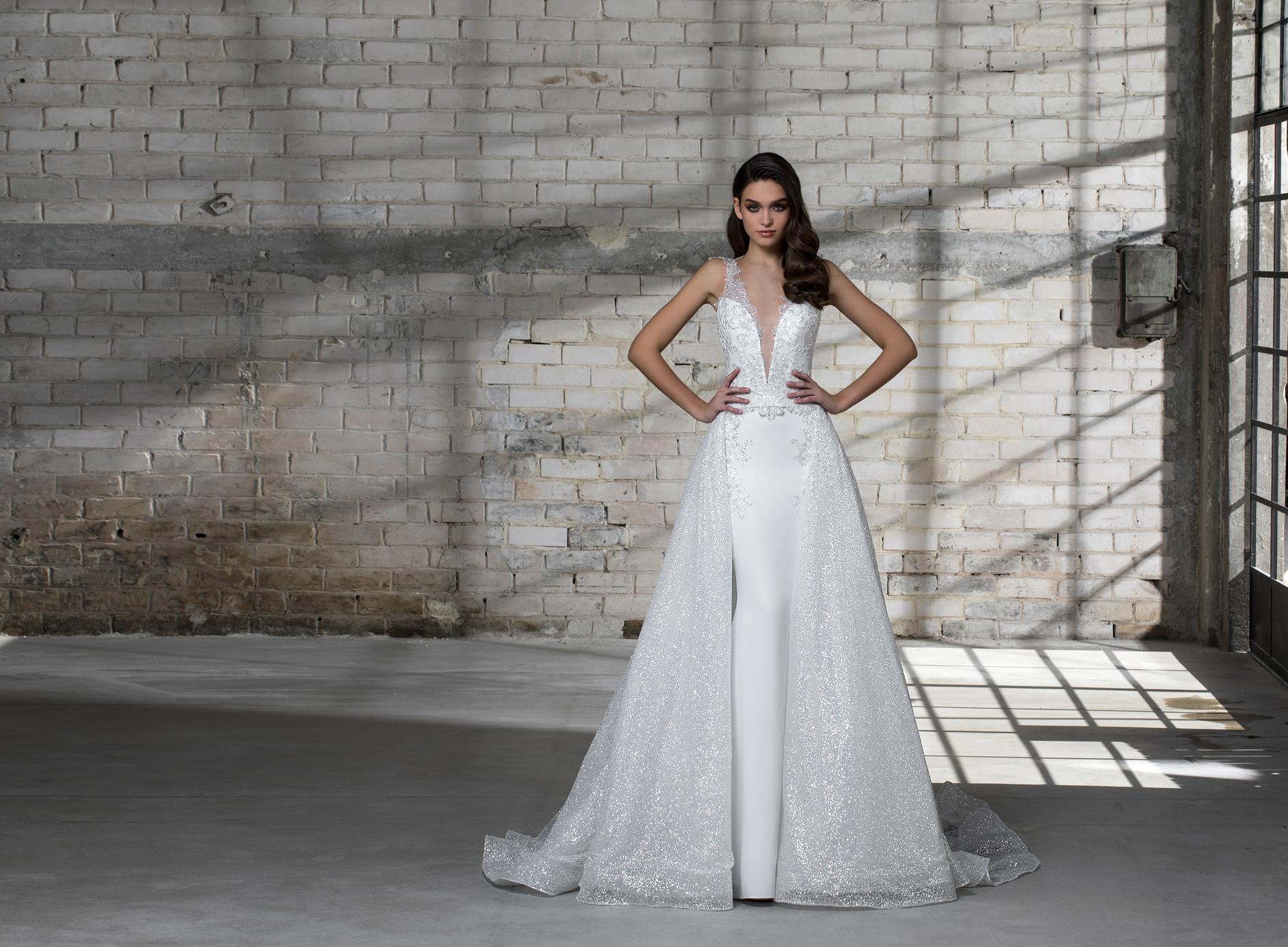 pnina tornai wedding dress spring 2019 ball gown sleeveless