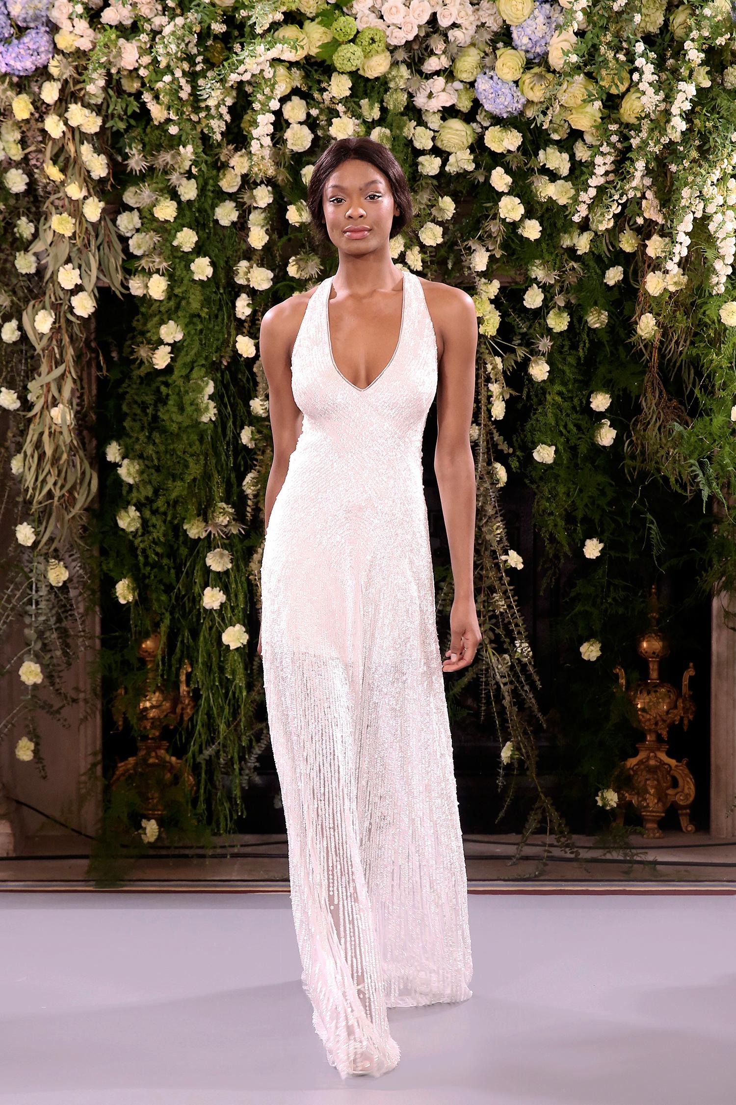 jenny packham wedding dress spring 2019 embellished sheath halter