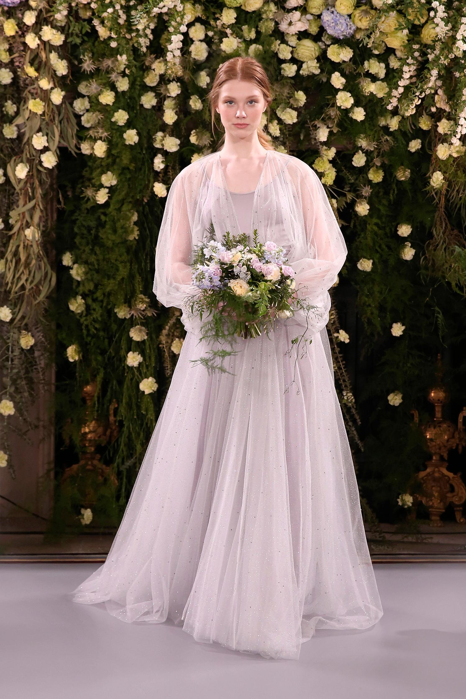 jenny packham wedding dress spring 2019 pale lavender with sheer overlay