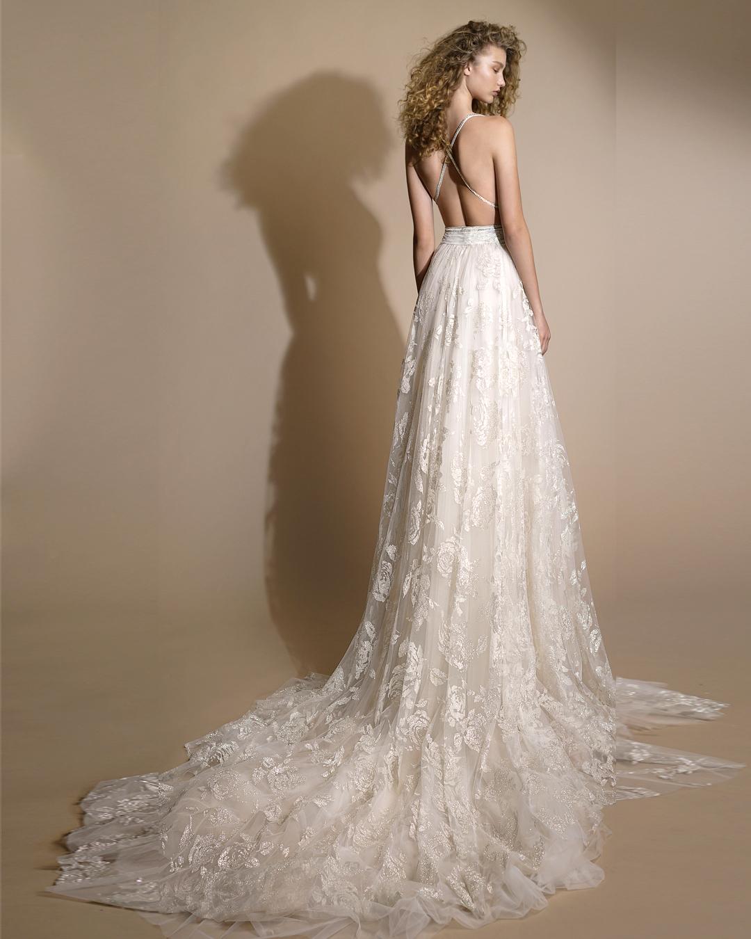 galia lahav gala wedding dress spring 2019 lace spaghetti strap a-line