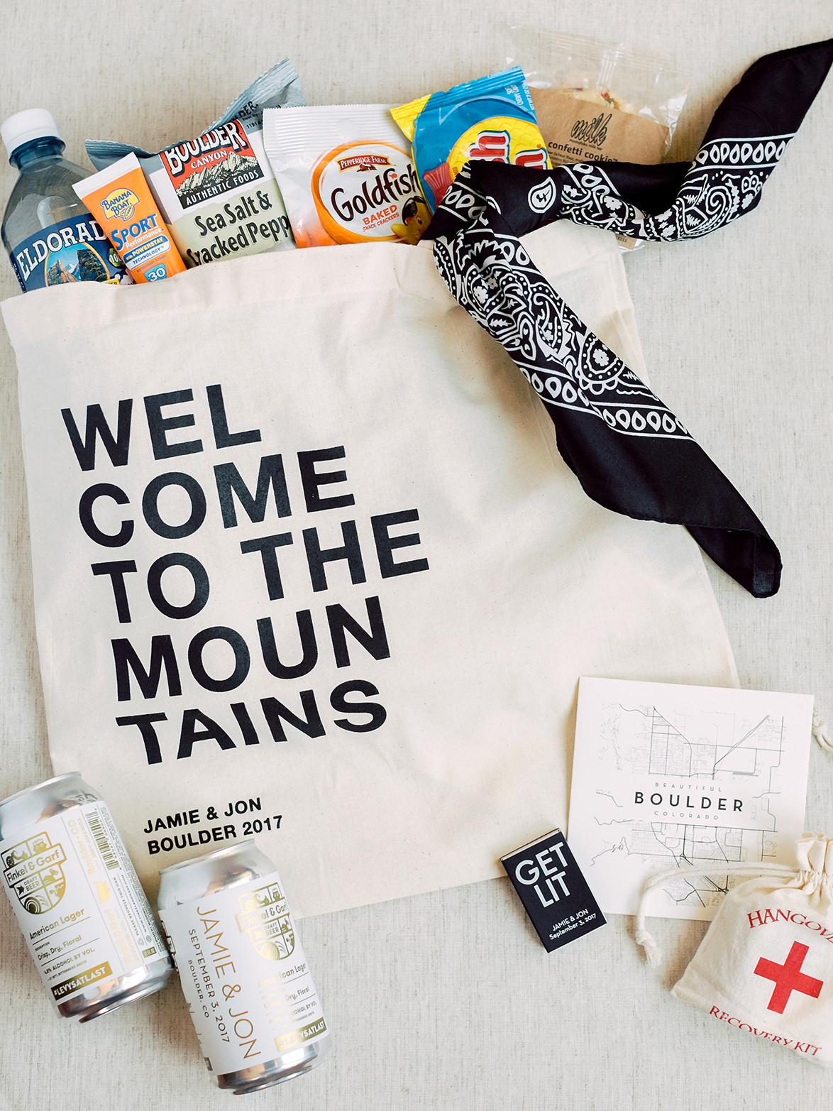 Mountain Welcome Bags